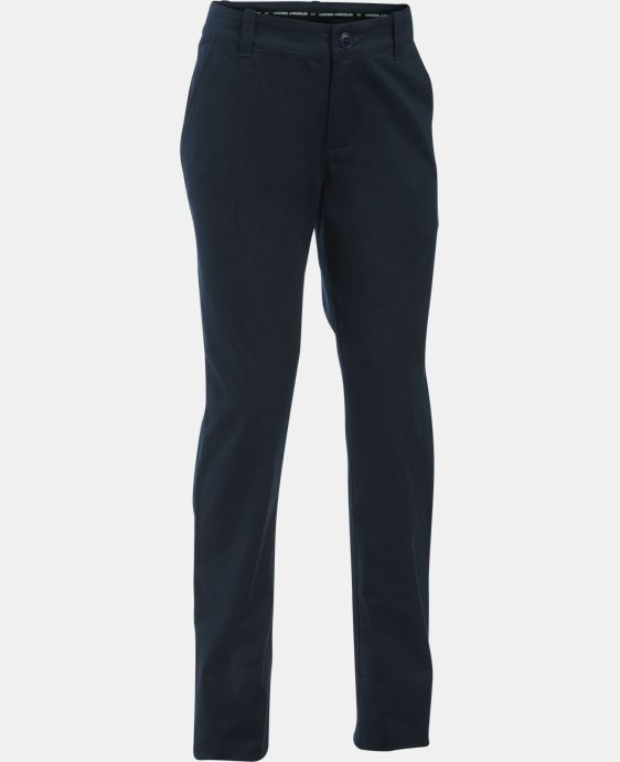 Girls' UA Uniform Chino Pants – Plus Size LIMITED TIME: FREE U.S. SHIPPING  $54.99