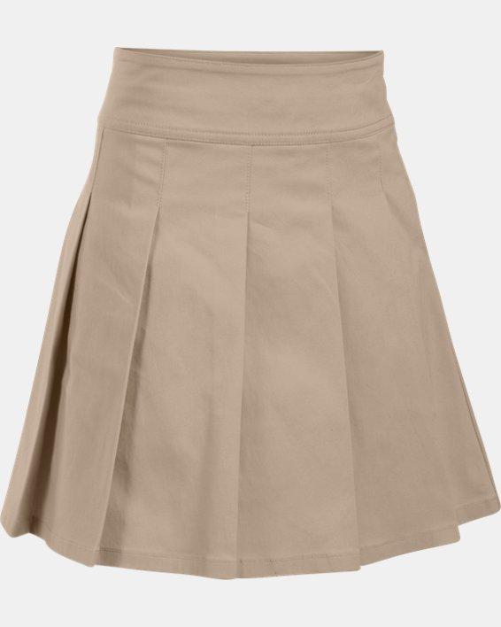 Girls' UA Uniform Skort - Pre-School, Brown, pdpMainDesktop image number 0