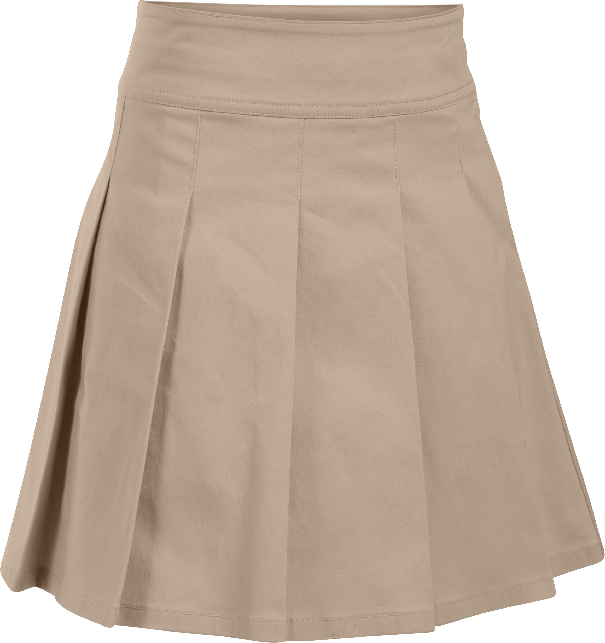 Girls' UA Uniform Skort – Pre-School, Desert Sand, undefined
