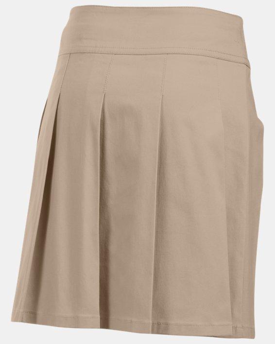 Girls UA Uniform Skort, Brown, pdpMainDesktop image number 1