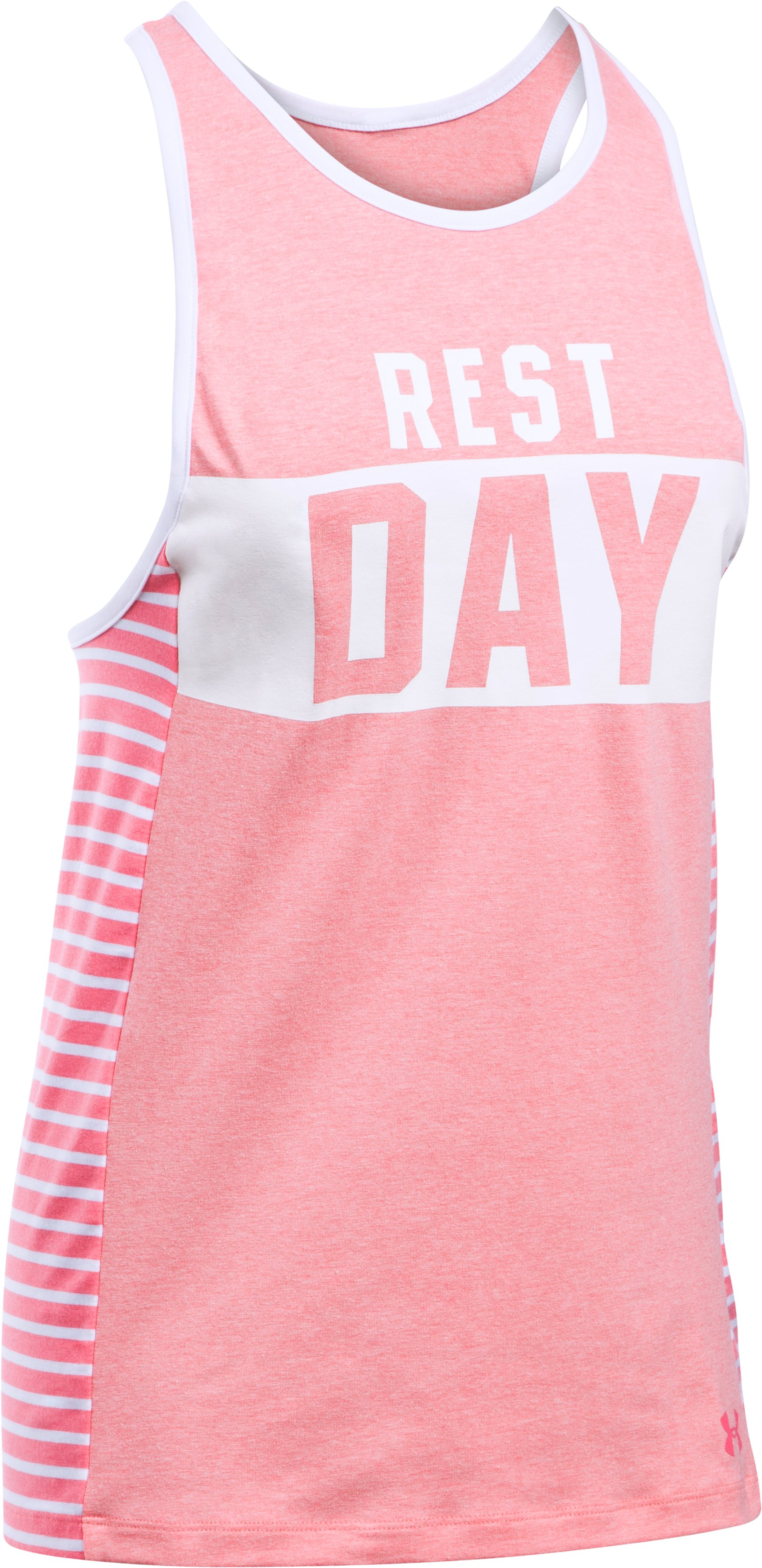 Women's UA Rest Day Graphic Tank, PERFECTION LIGHT HEATHER,