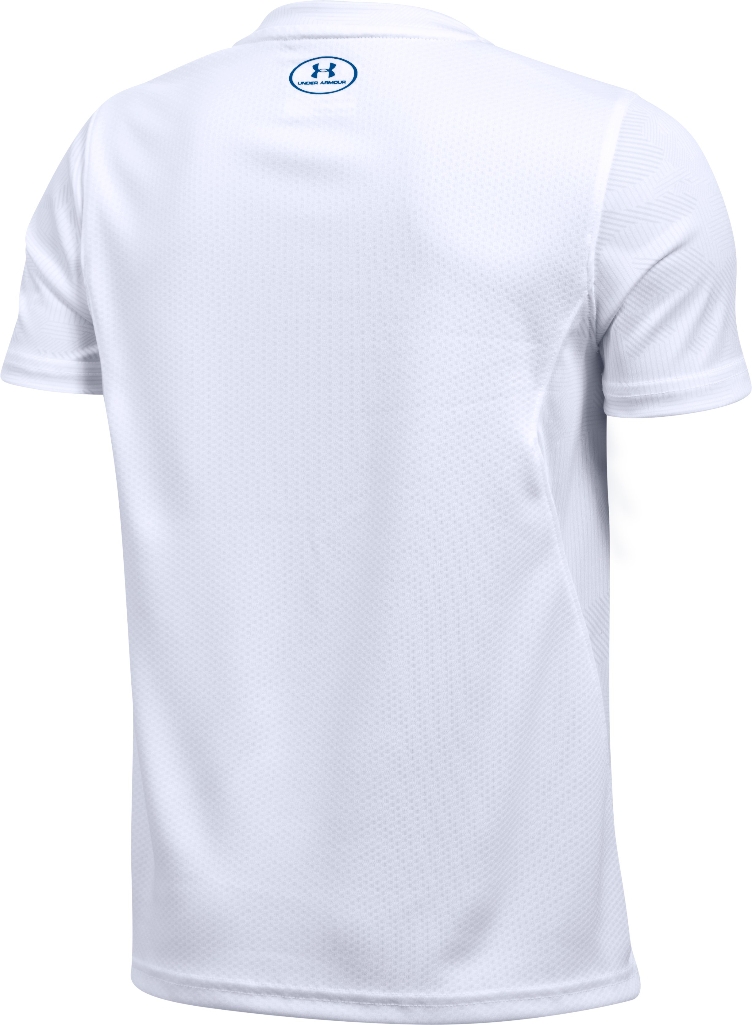 Kids' UA Challenger Printed Training T-Shirt , White,