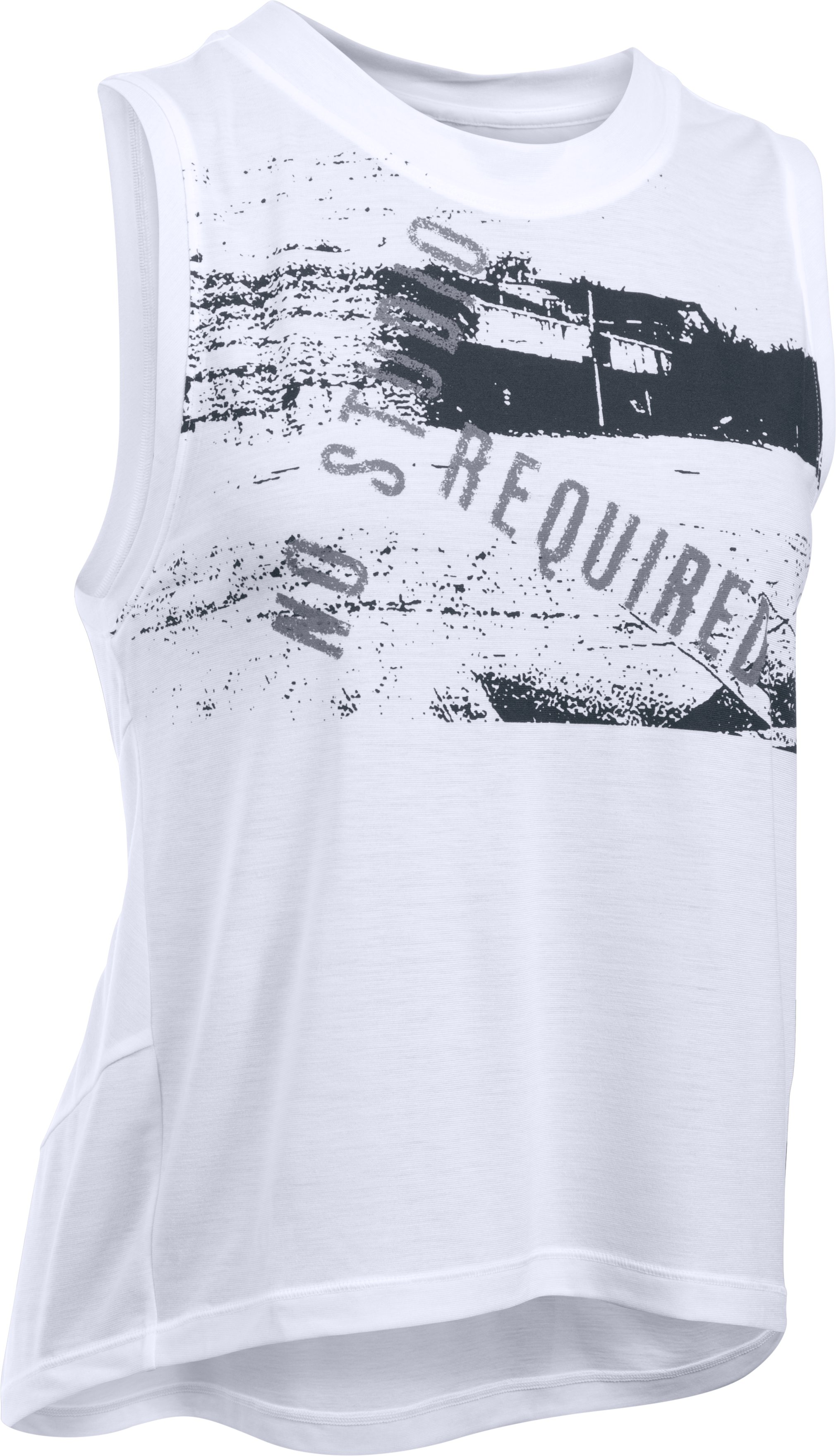 Women's UA Supreme No Studio Muscle Tank, White,