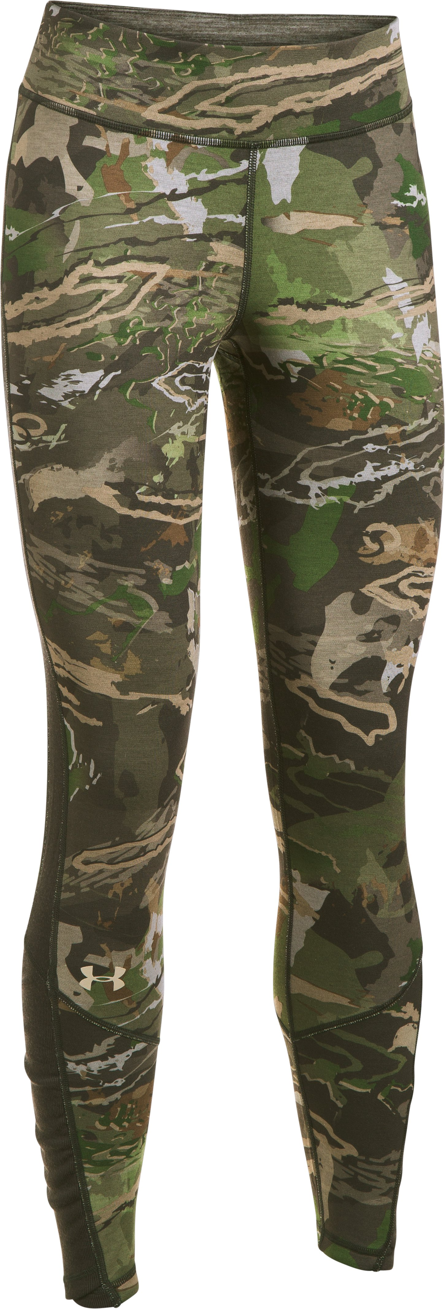 Women's UA Mid Season Reversible Wool Base Bottom, RIDGE REAPER® FOREST,
