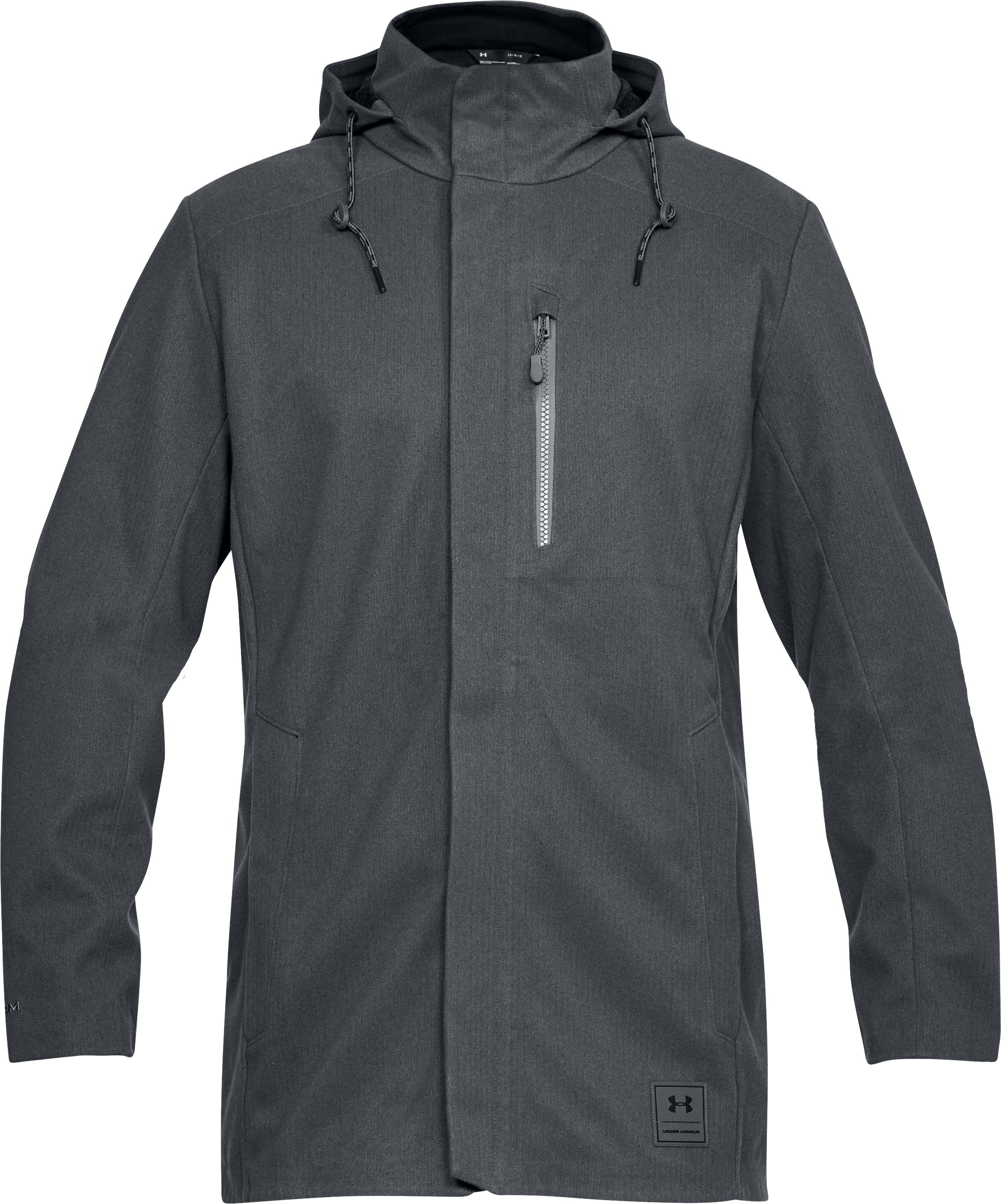 Men's UA Storm Wool Town Coat, RHINO GRAY, undefined