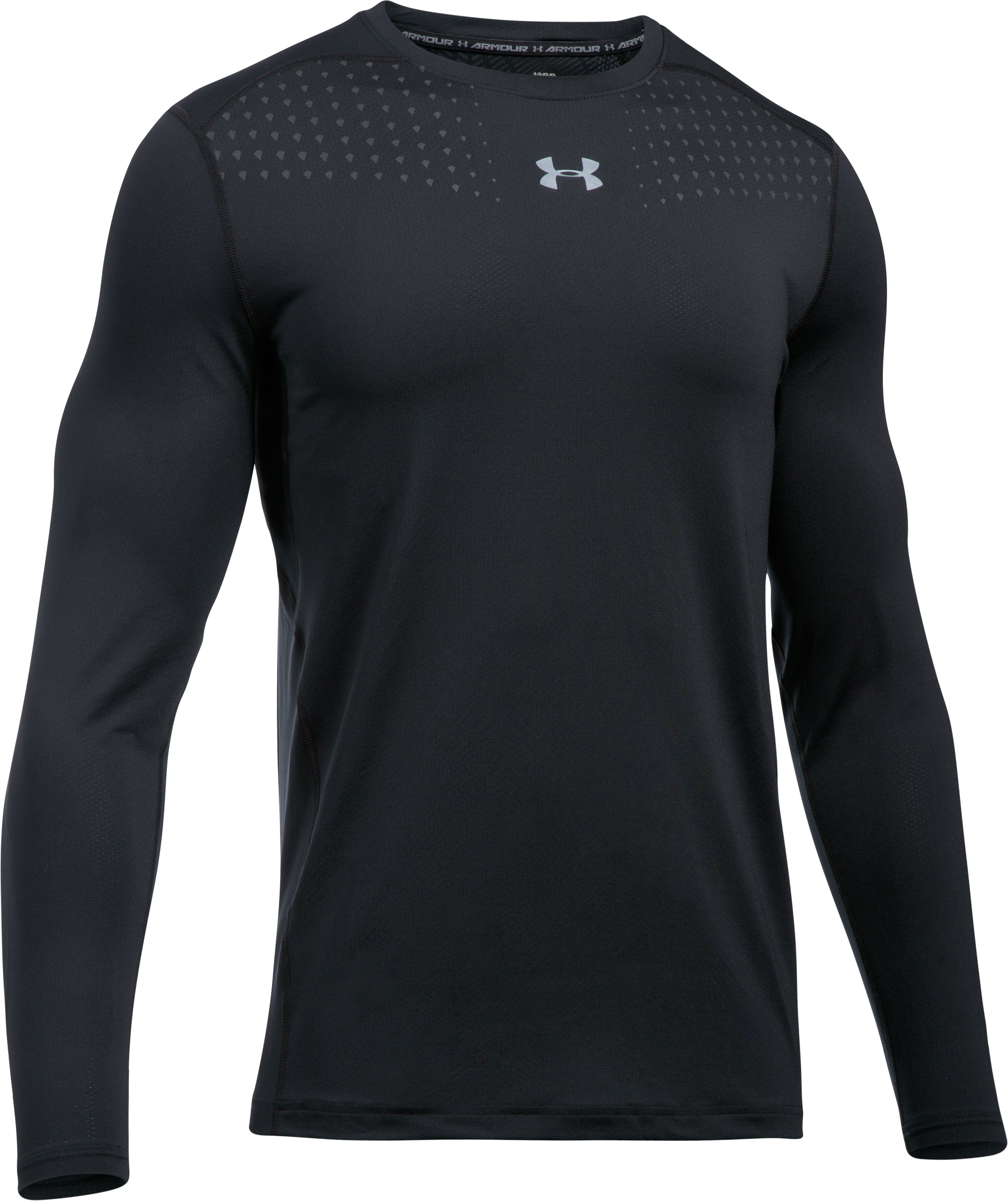 Men's HeatGear® CoolSwitch Fitted Long Sleeve, Black , undefined
