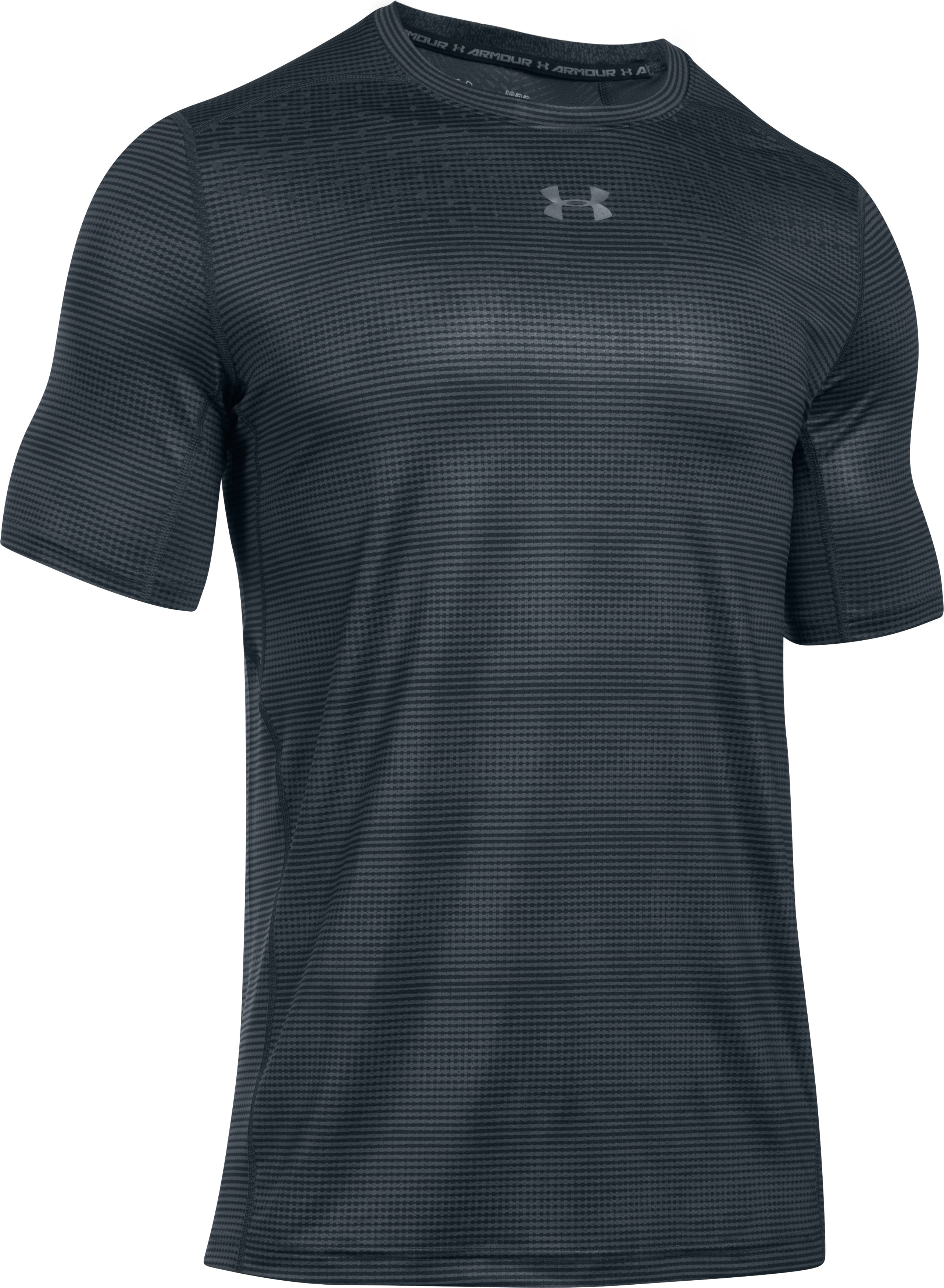 Men's HeatGear® CoolSwitch Short Sleeve, ANTHRACITE