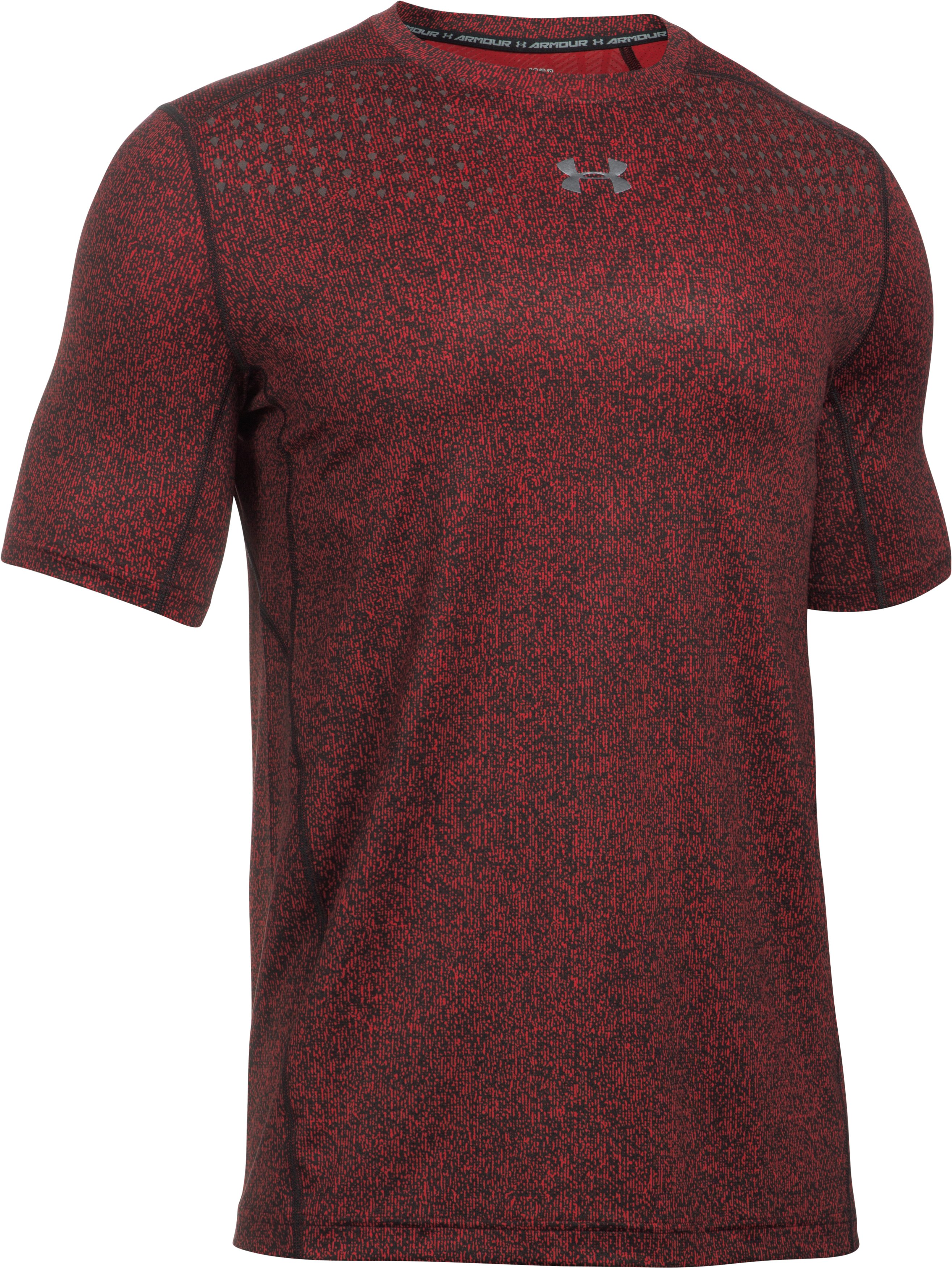 Men's HeatGear® CoolSwitch Short Sleeve, Red, undefined