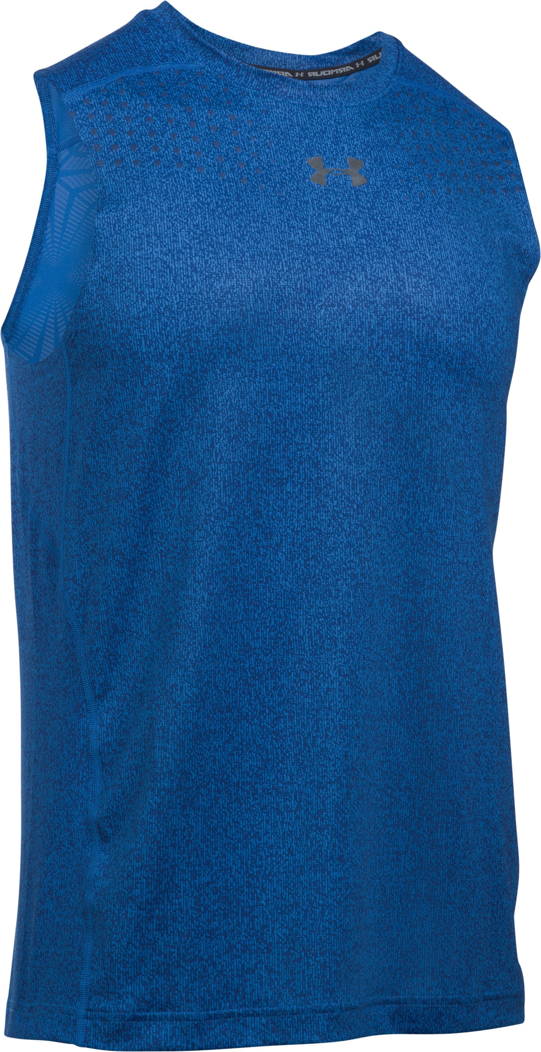 Men's HeatGear® CoolSwitch Sleeveless, BLUE MARKER, undefined