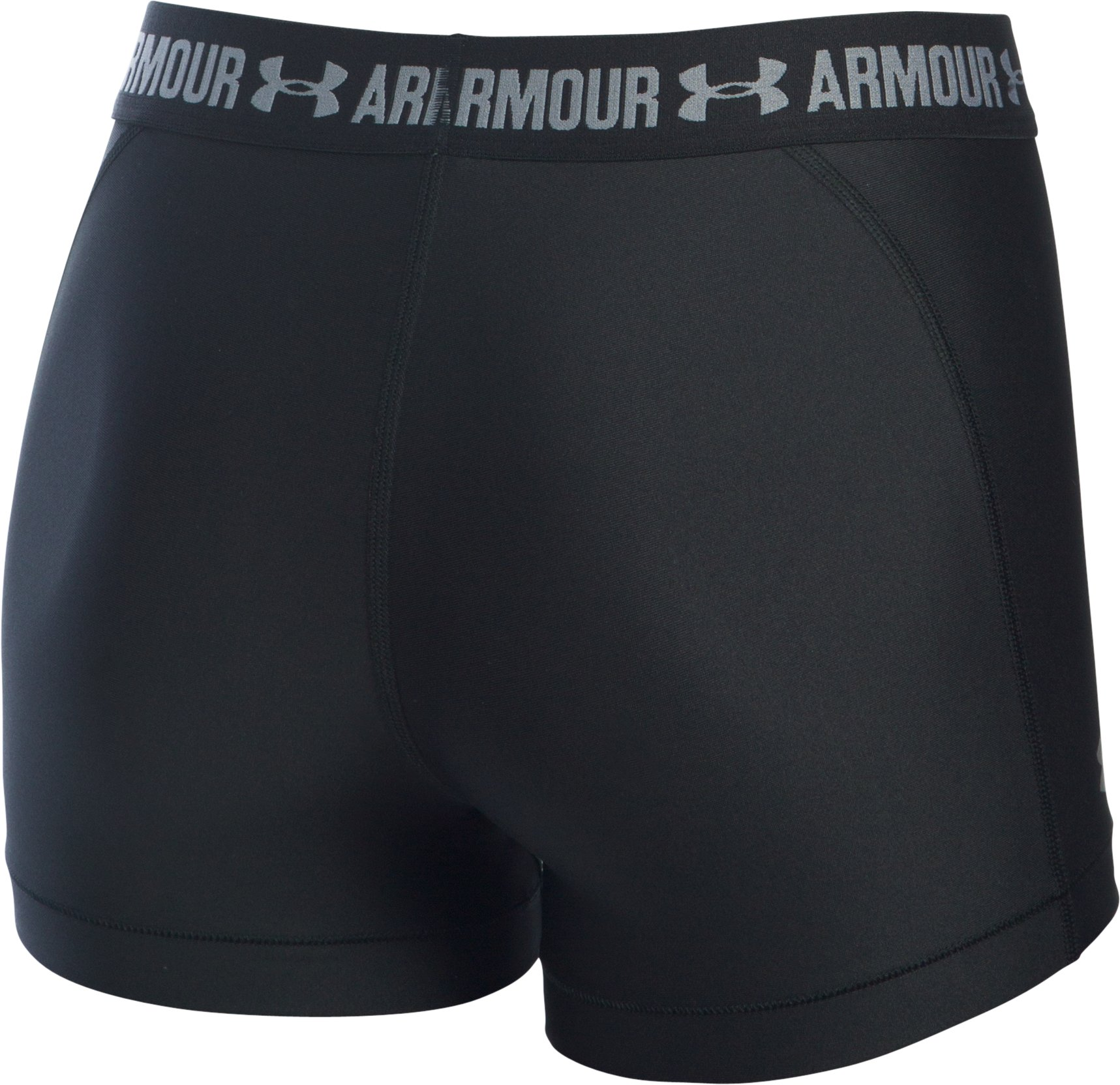 Women's UA HeatGear® Armour Shorty, Black ,