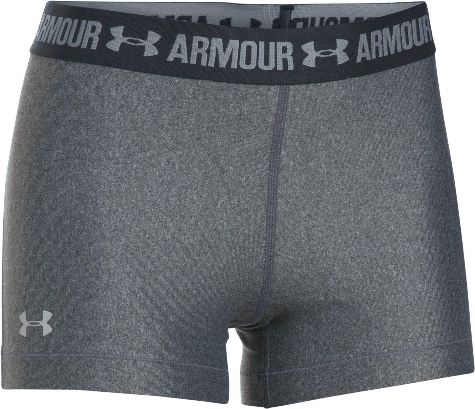 Women's UA HeatGear® Armour Shorty, Carbon Heather, undefined