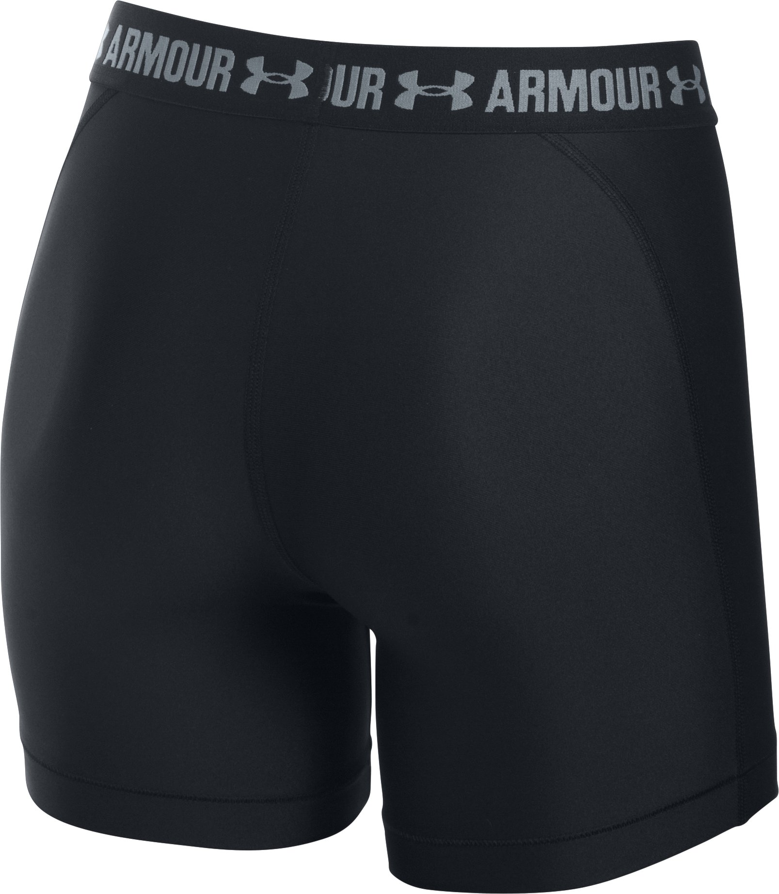 Women's UA HeatGear® Armour Middy, Black , undefined