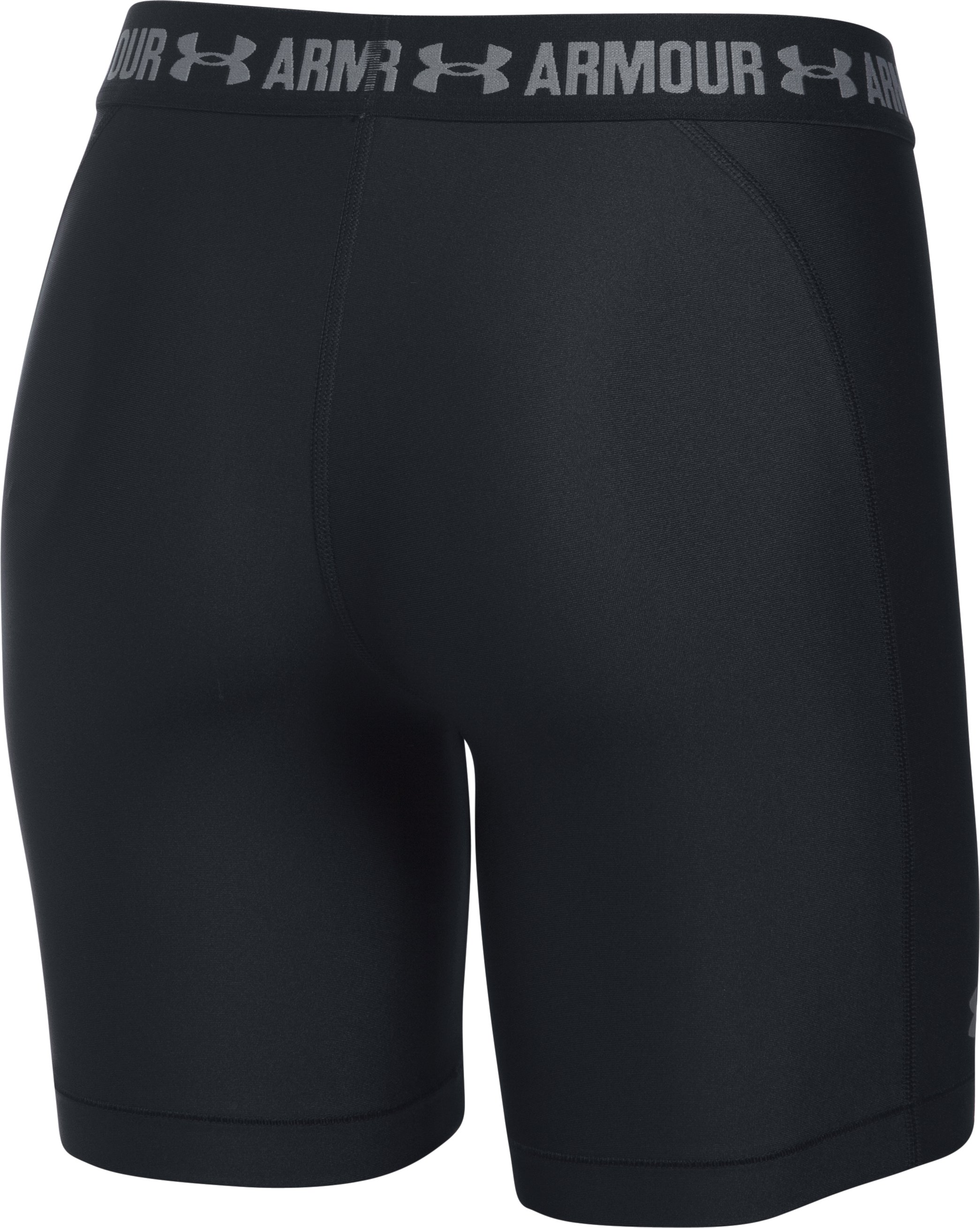 Women's UA HeatGear® Armour Long Shorts, Black , undefined