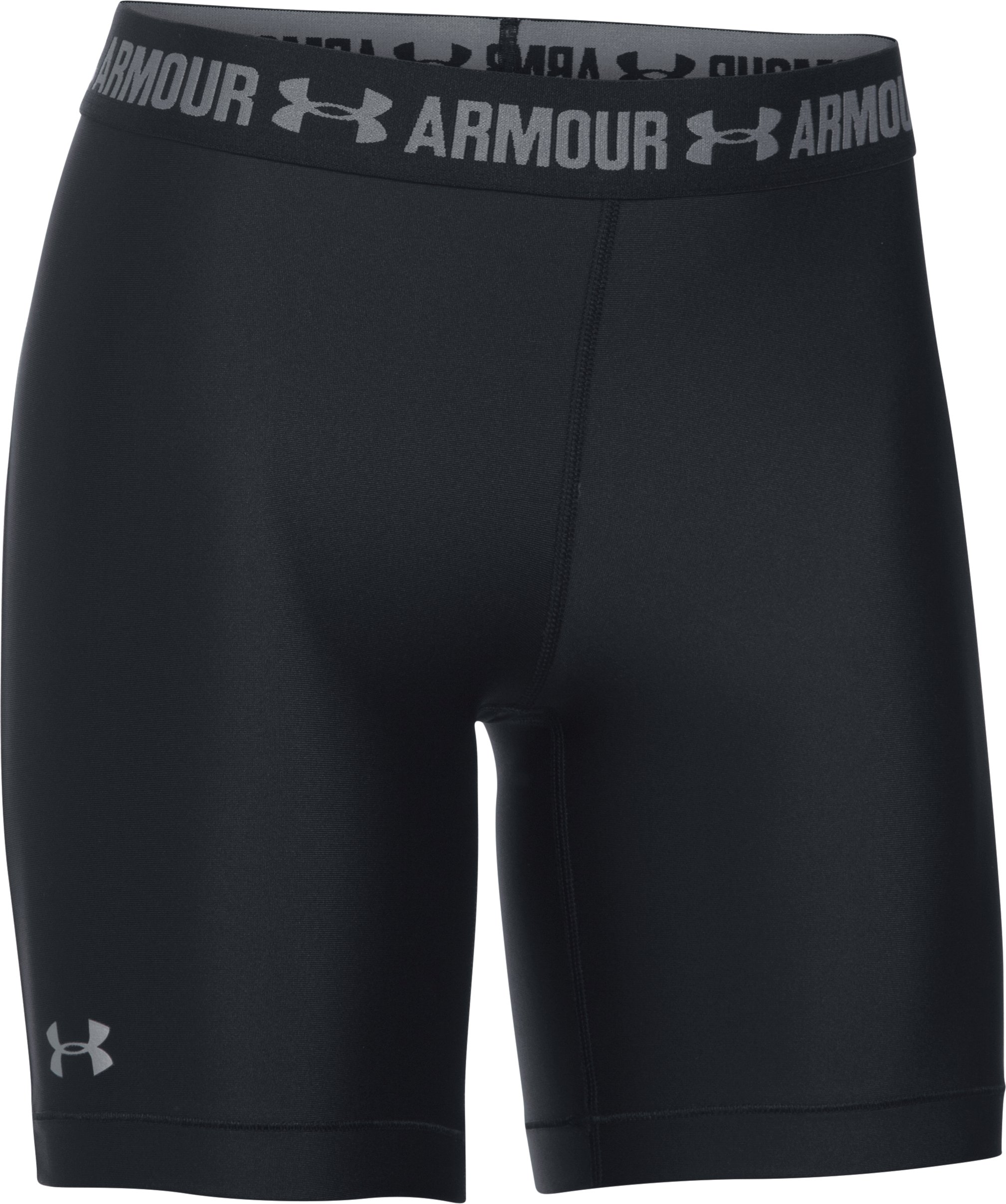 Women's UA HeatGear® Armour Long Shorts, Black ,