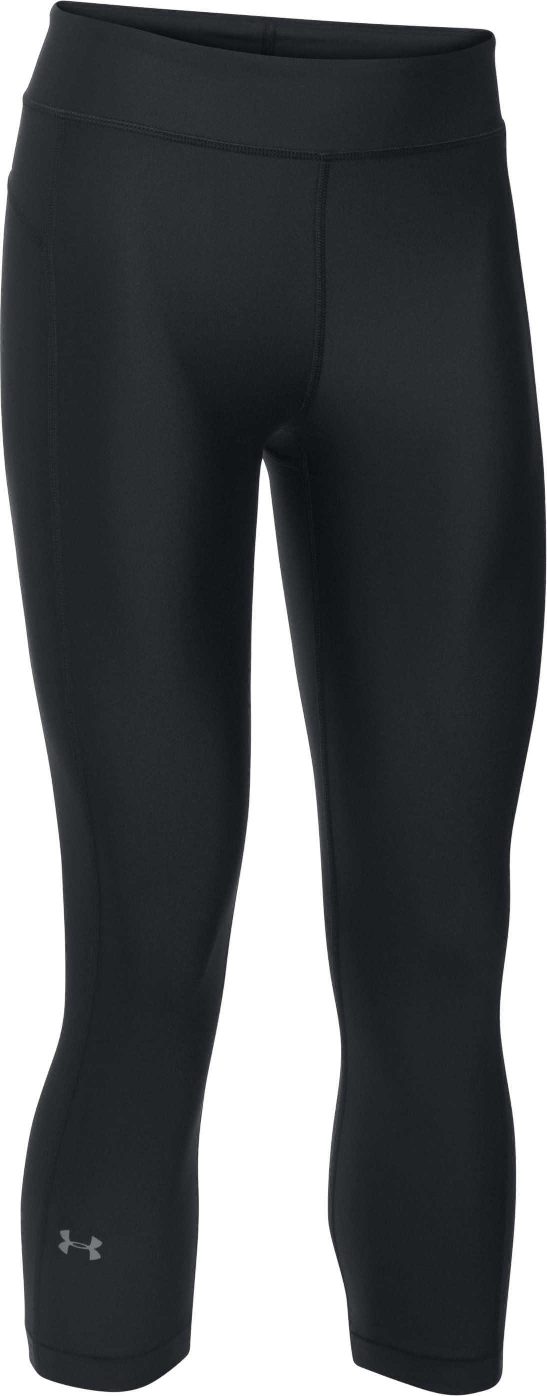 Women's UA HeatGear® Armour Capris, Black ,