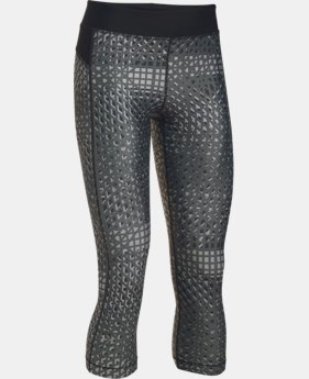 Women's UA HeatGear® Armour Printed Capri  3 Colors $44.99