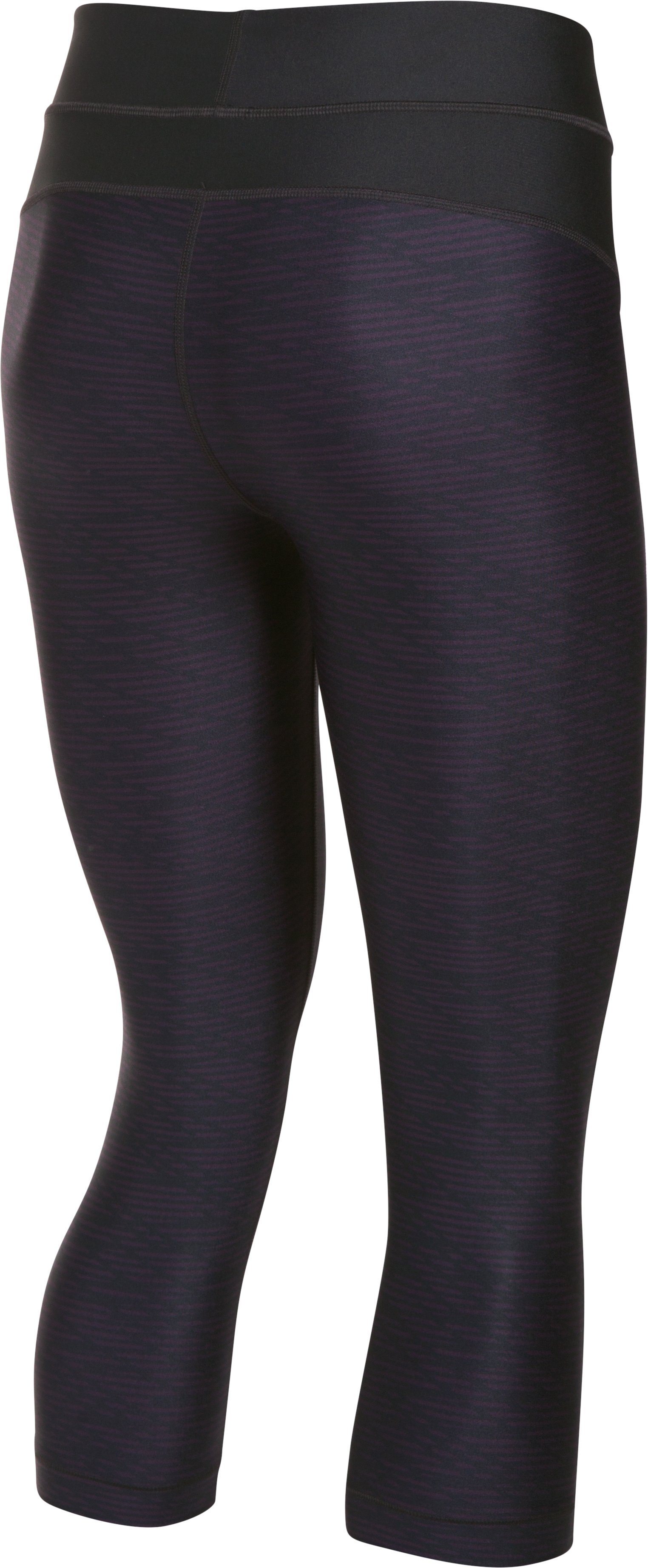 Women's UA HeatGear® Armour Printed Capris, IMPERIAL PURPLE
