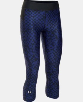 Best Seller Women's UA HeatGear® Armour Printed Capri   $39.99