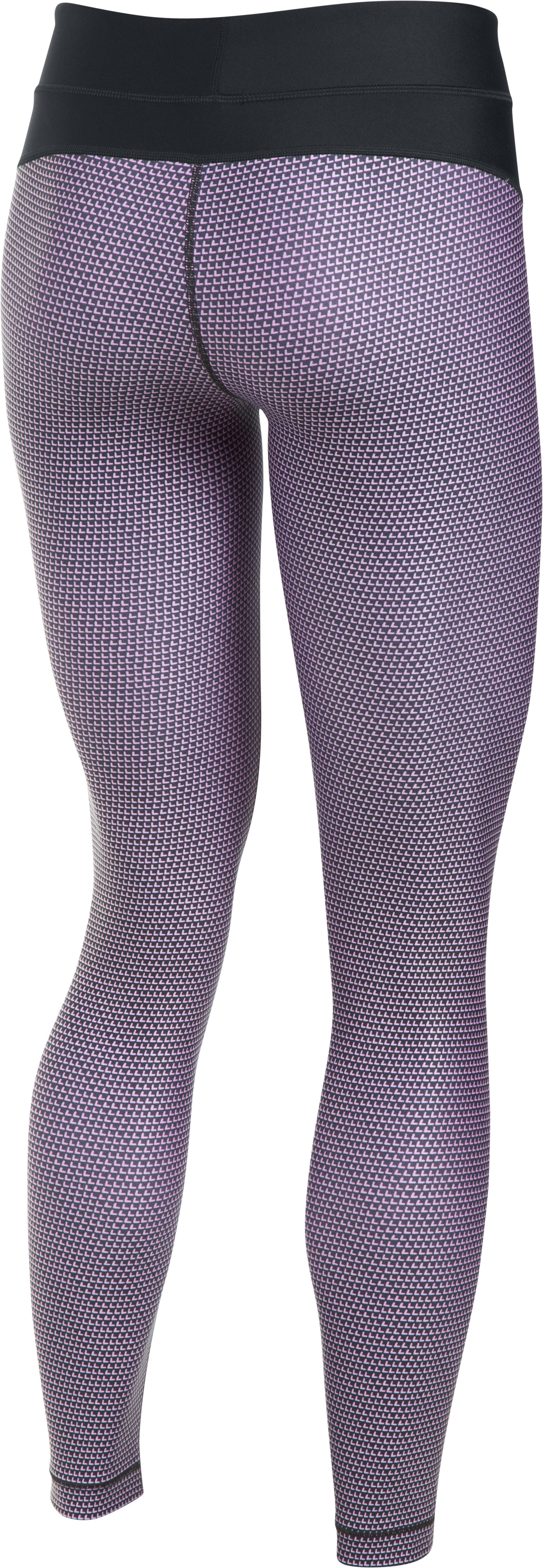 Women's UA HeatGear® Armour Printed Leggings, Black ,