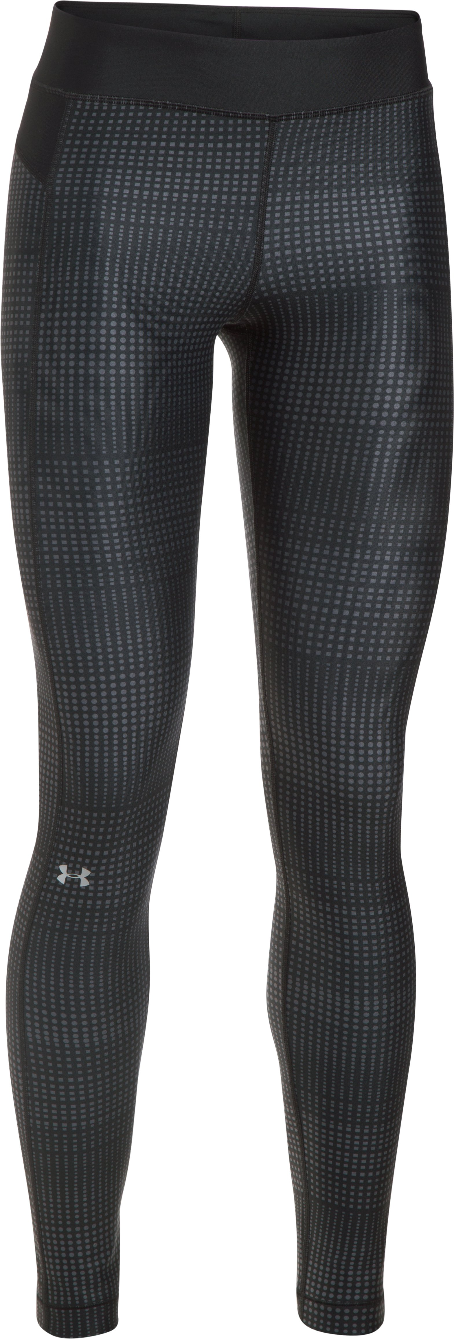 Women's UA HeatGear® Armour Printed Leggings, Black , undefined