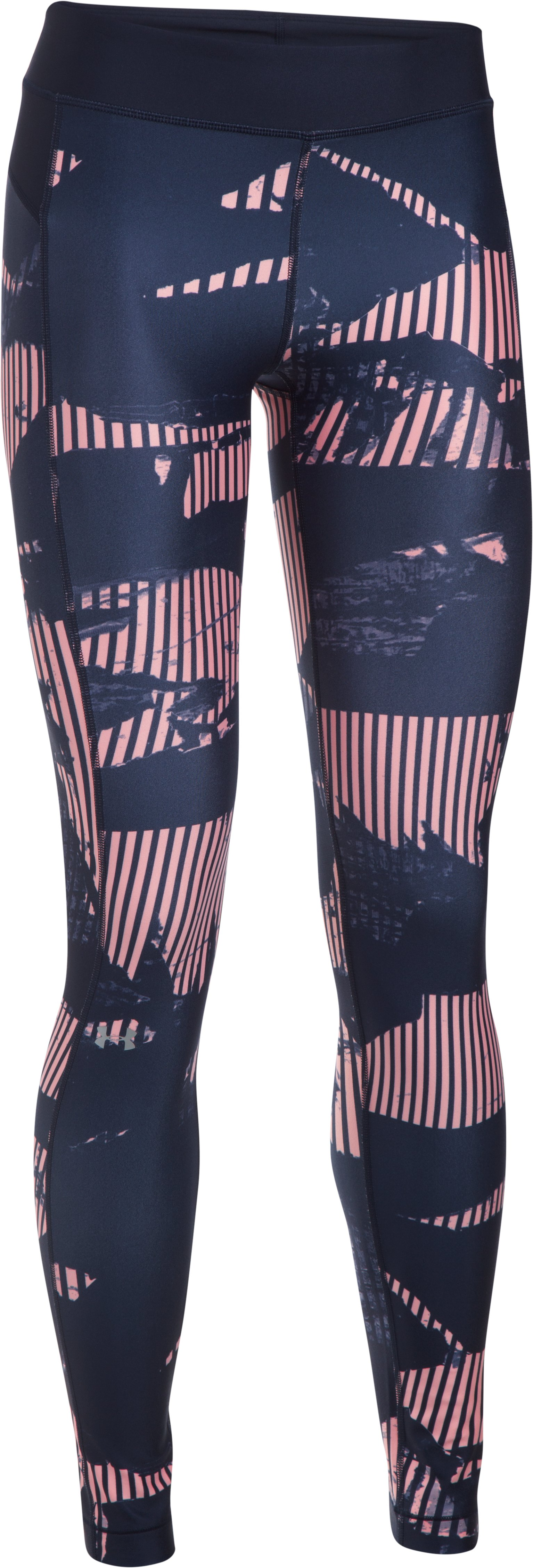 Women's UA HeatGear® Armour Printed Leggings, PINK SANDS, undefined
