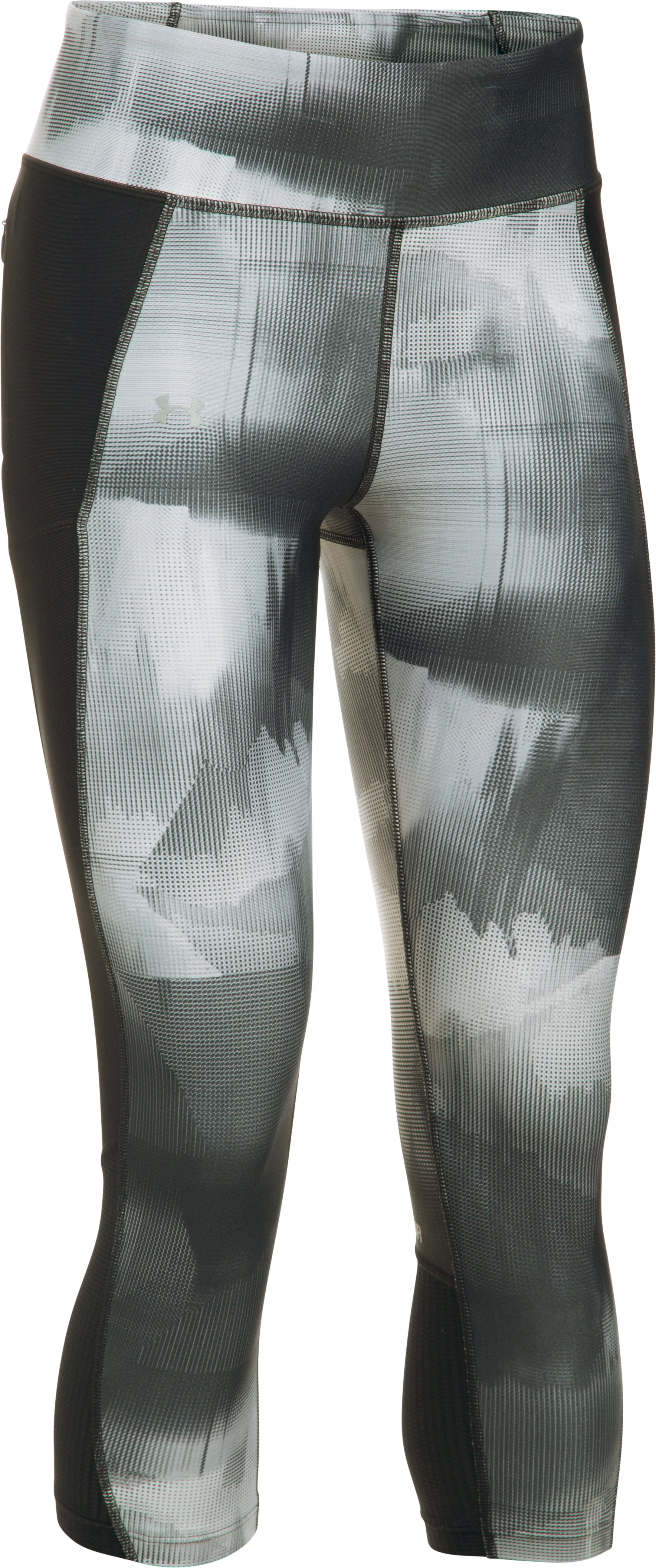Women's UA Fly-By Printed Capris, Black
