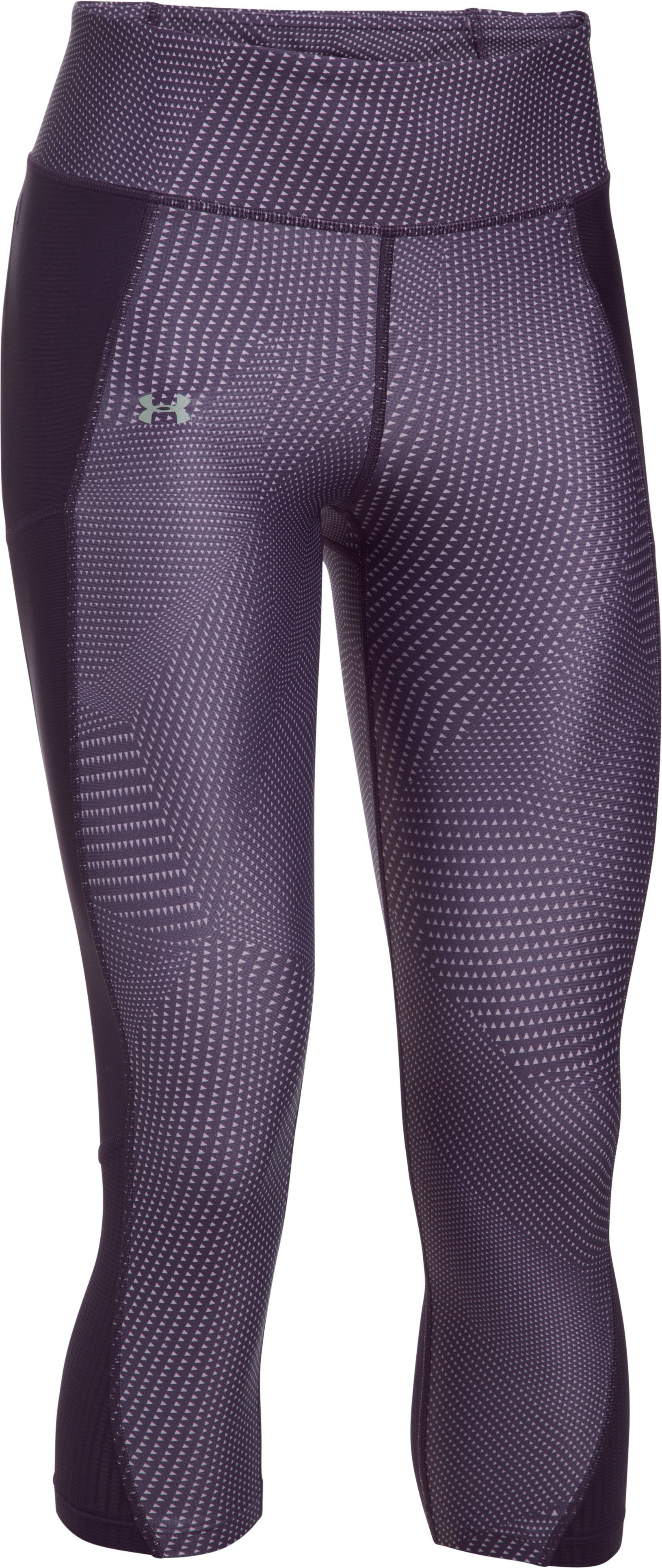 Women's UA Fly-By Printed Capris, IMPERIAL PURPLE