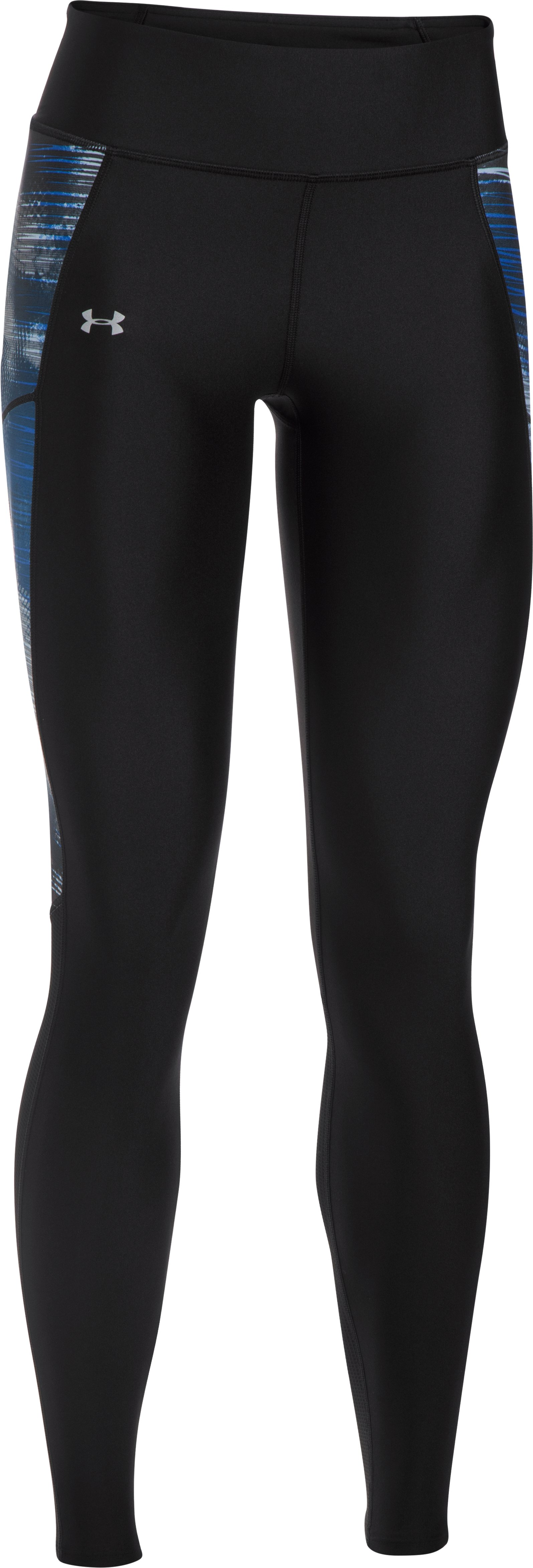 Women's UA Fly-By Printed Leggings, Black , undefined