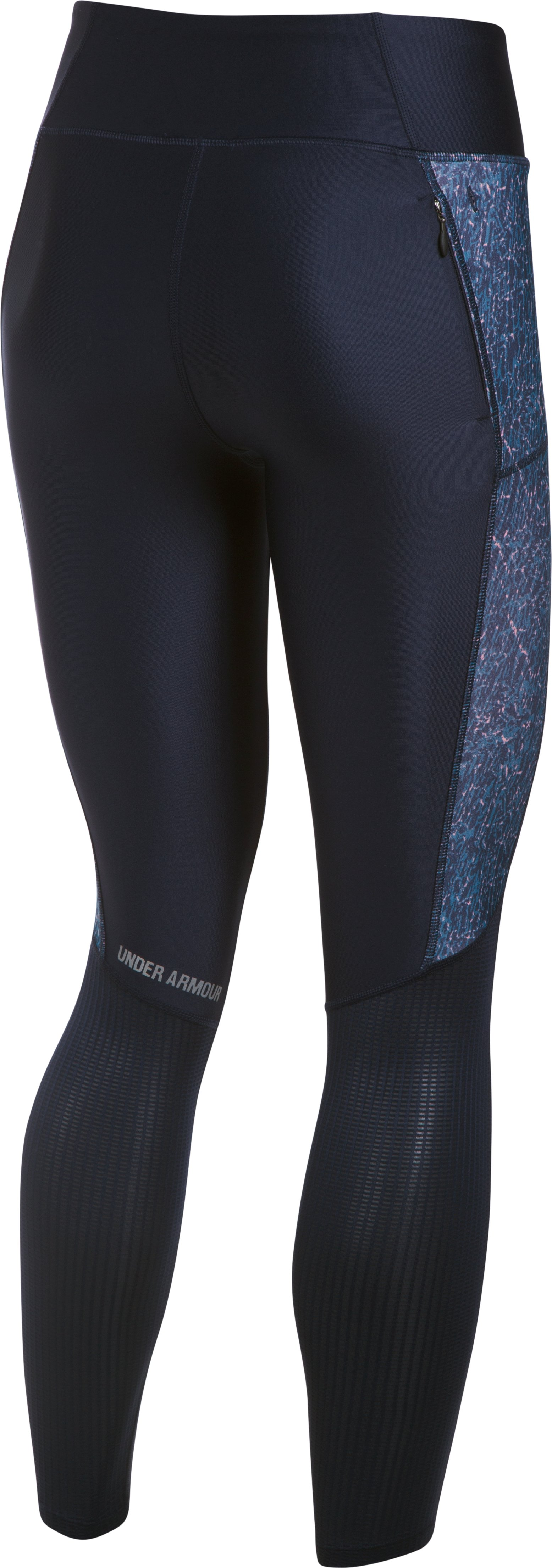 Women's UA Fly-By Printed Leggings, Midnight Navy, undefined