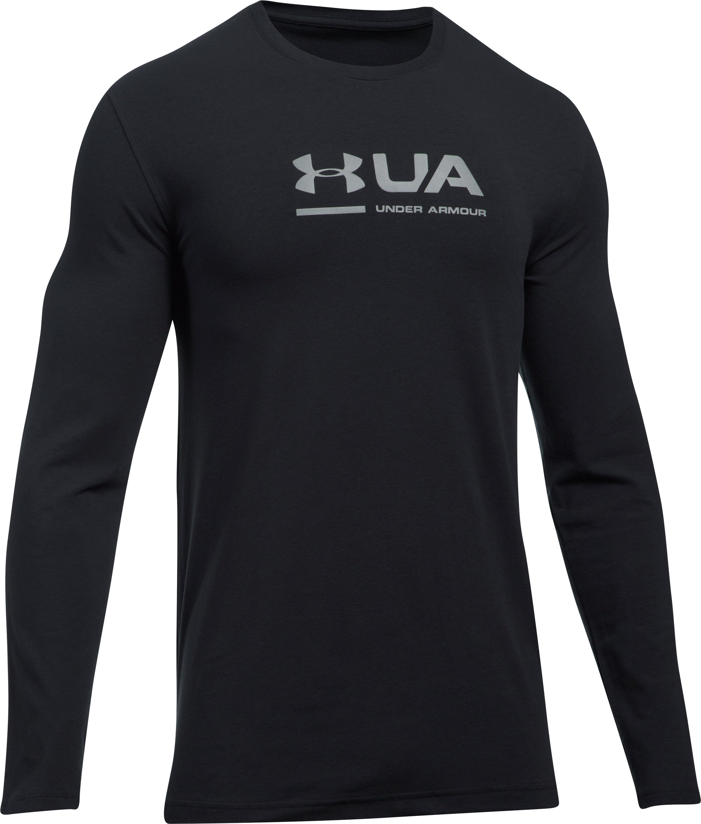 Men's UA Shift Center Chest Long Sleeve T-Shirt, Black , undefined