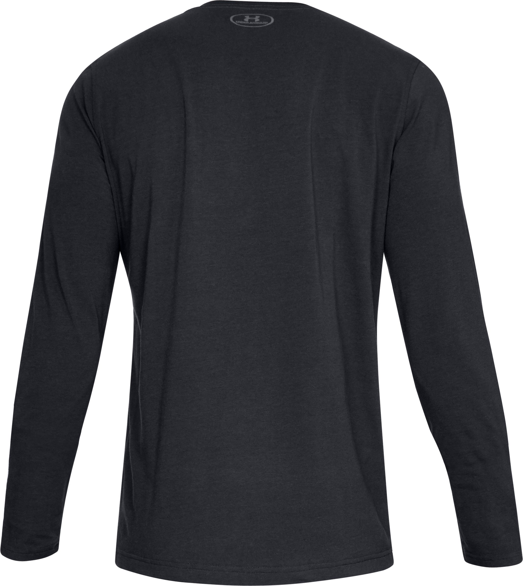Men's UA Shift Center Chest Long Sleeve T-Shirt, Black ,