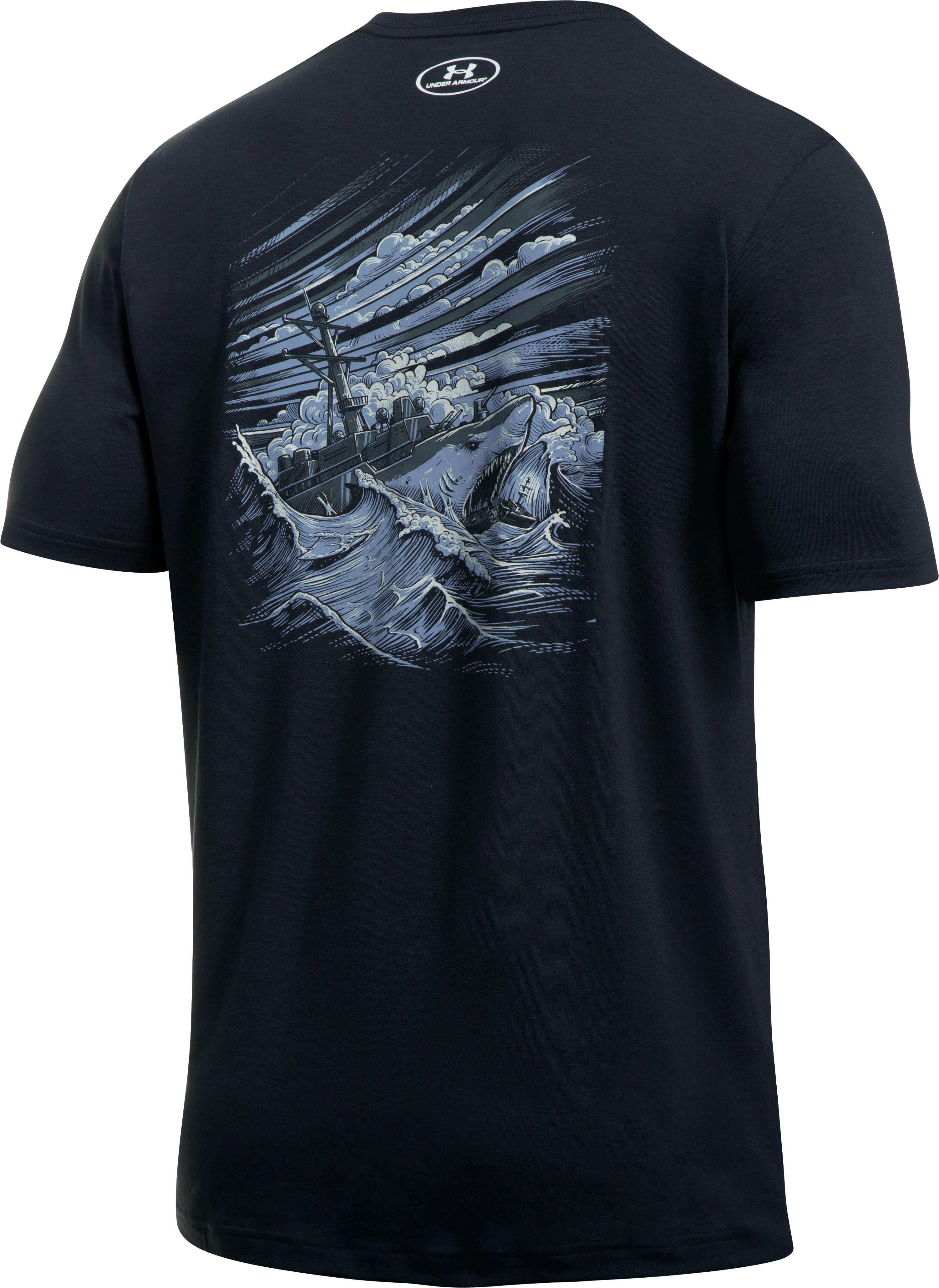 Men's UA Freedom By Sea T-Shirt, Black , zoomed image