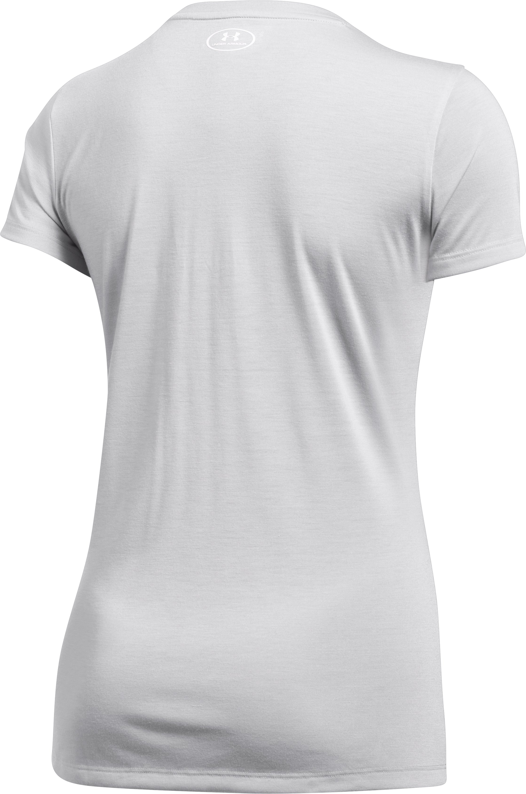 Women's UA Freedom V-Neck T-Shirt, OVERCAST GRAY,