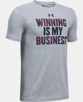Boys' UA Winning Business T-Shirt  1 Color $22.99