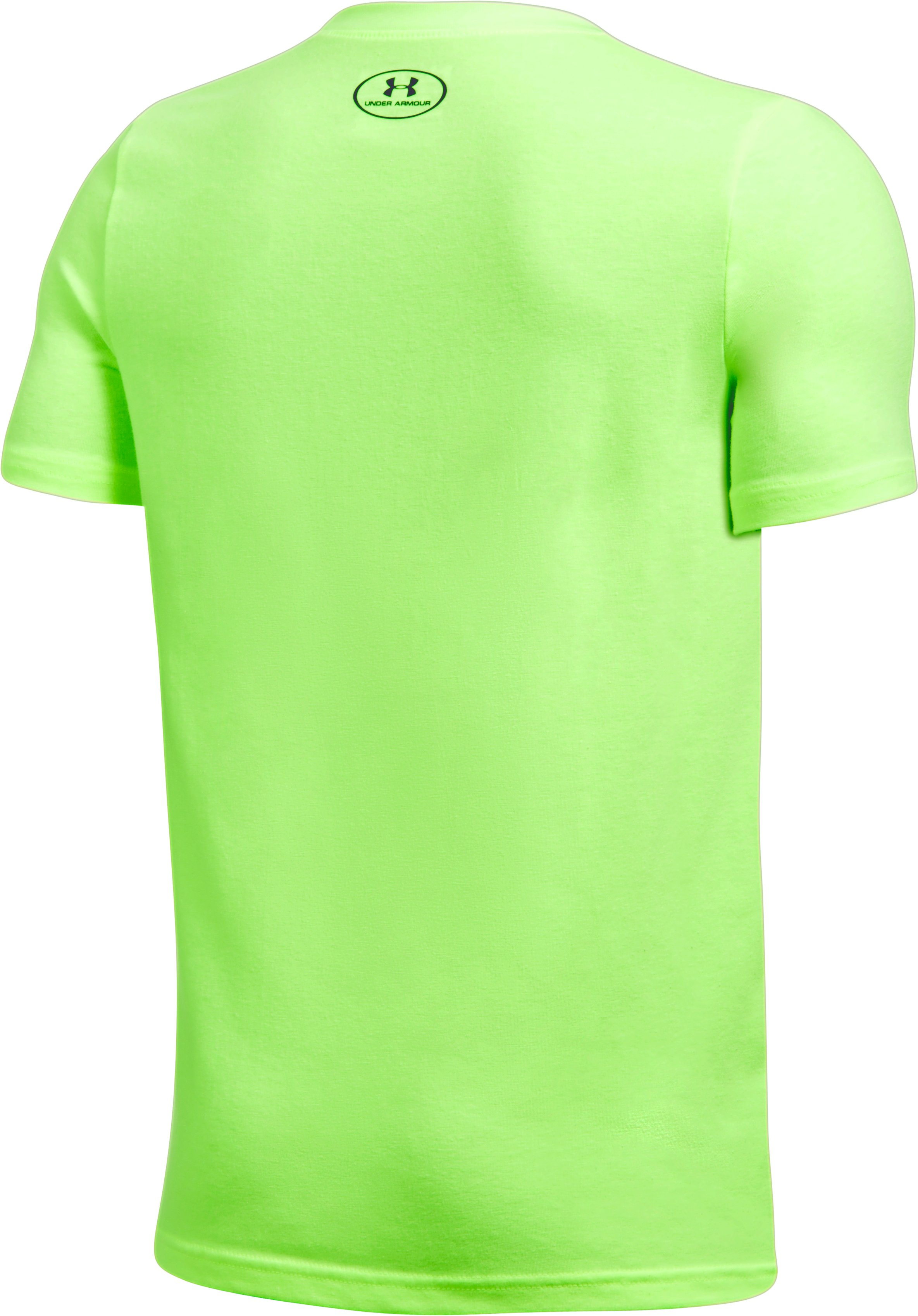 Boys' UA Winning Business T-Shirt, QUIRKY LIME LIGHT HEATHER, undefined