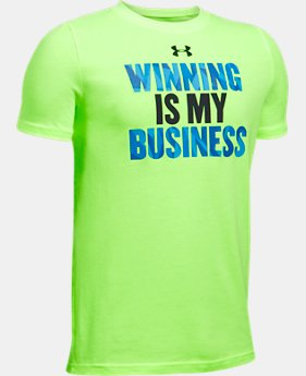 Boys' UA Winning Business T-Shirt  1 Color $19.99
