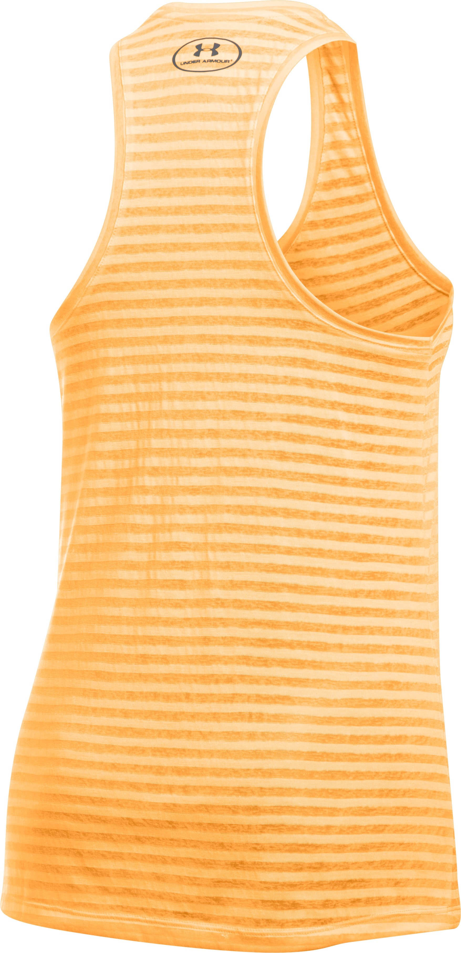 Women's UA Threadborne™ Train Stripe Tank, ORANGE PEEL, undefined