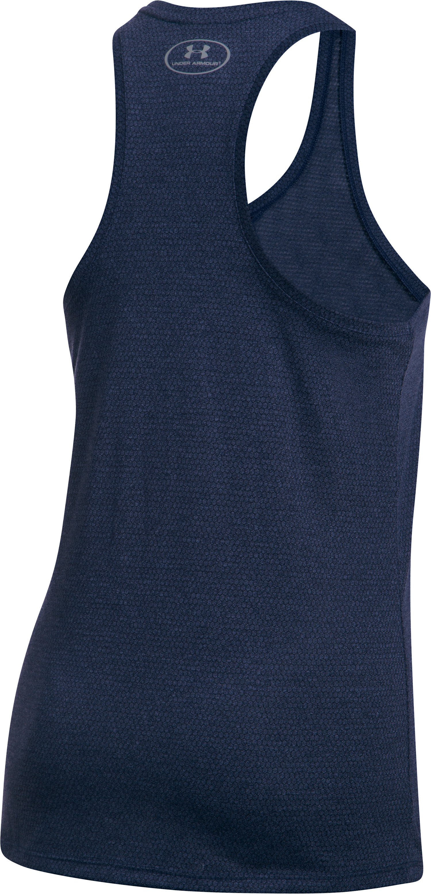 Women's UA Threadborne Train Hex Tank, Midnight Navy,