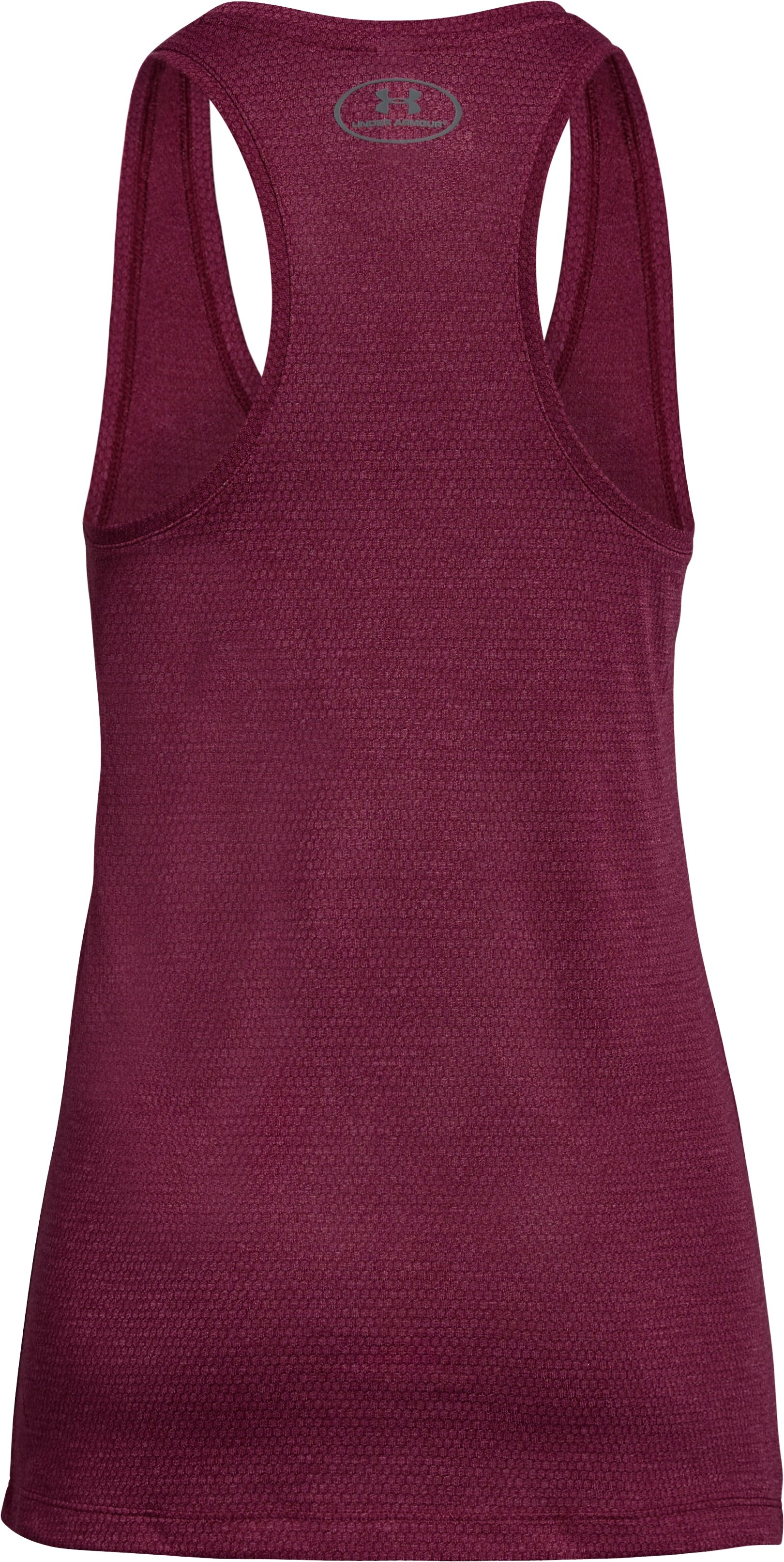 Women's UA Threadborne Train Hex Tank, BLACK CURRANT,