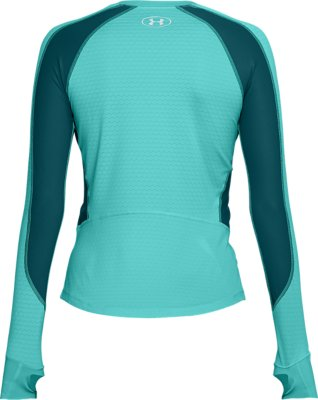 Blue Under Armour UA Women/'s Charged Run Long Sleeve Top New