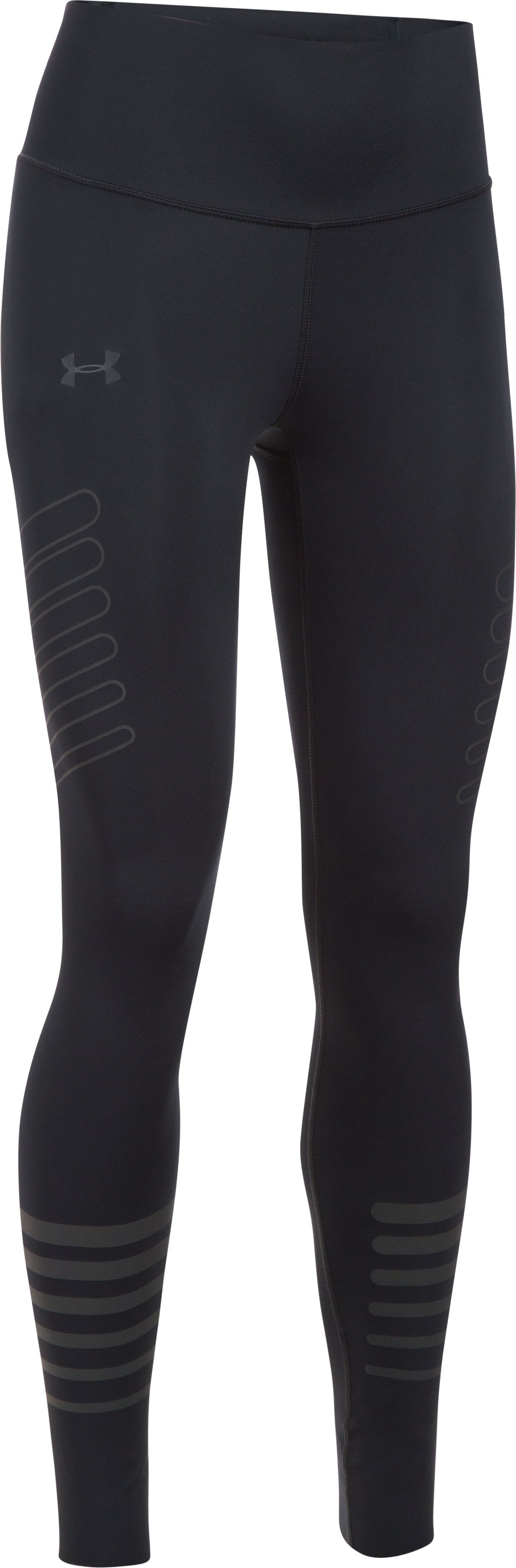 Women's UA Storm Accelerate Reflective Leggings, Black , undefined
