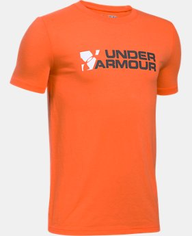 New to Outlet Boys' UA Duo Branded T-Shirt  1 Color $13.99