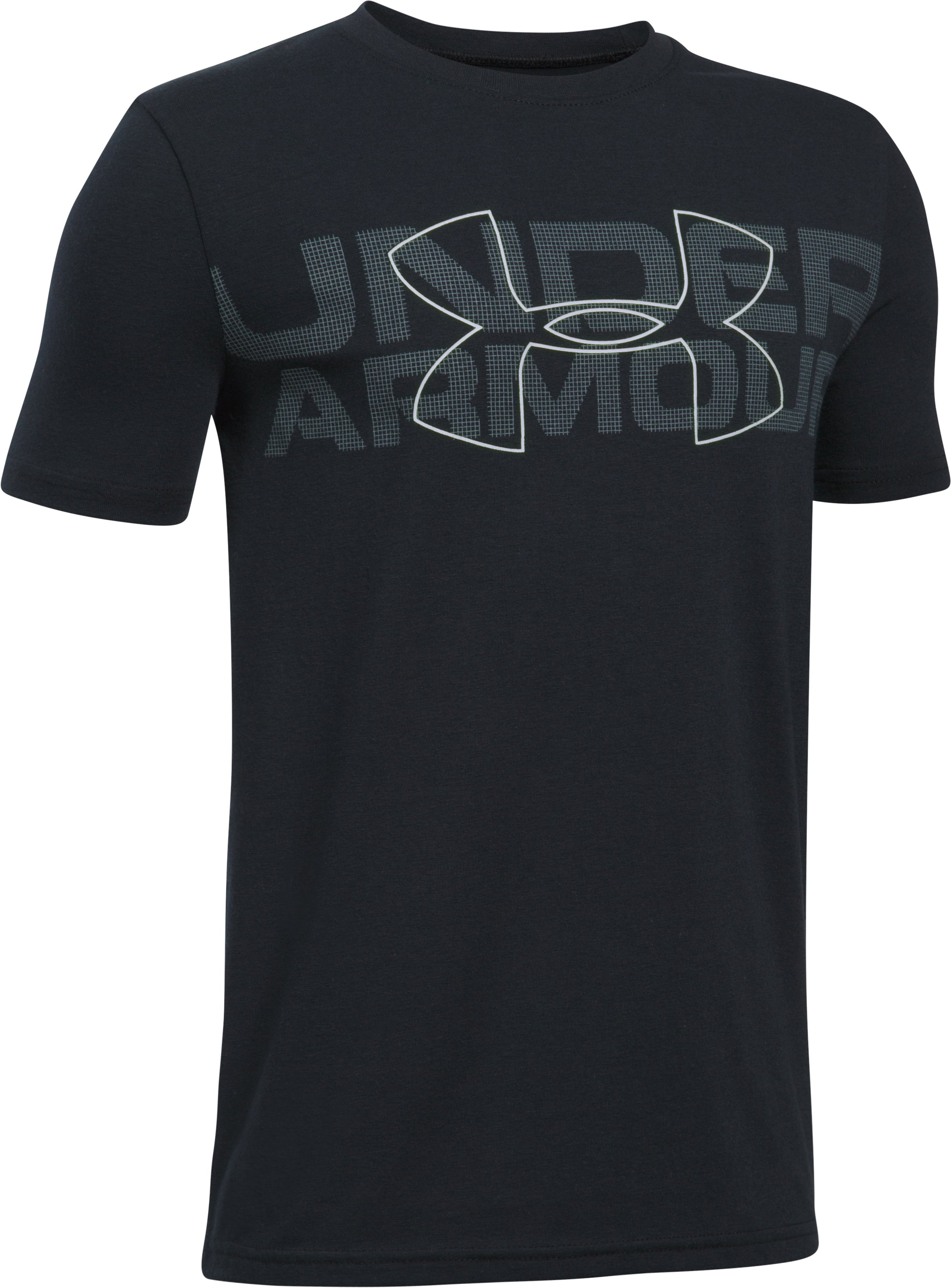 Boys' UA Duo Armour T-Shirt, Black ,