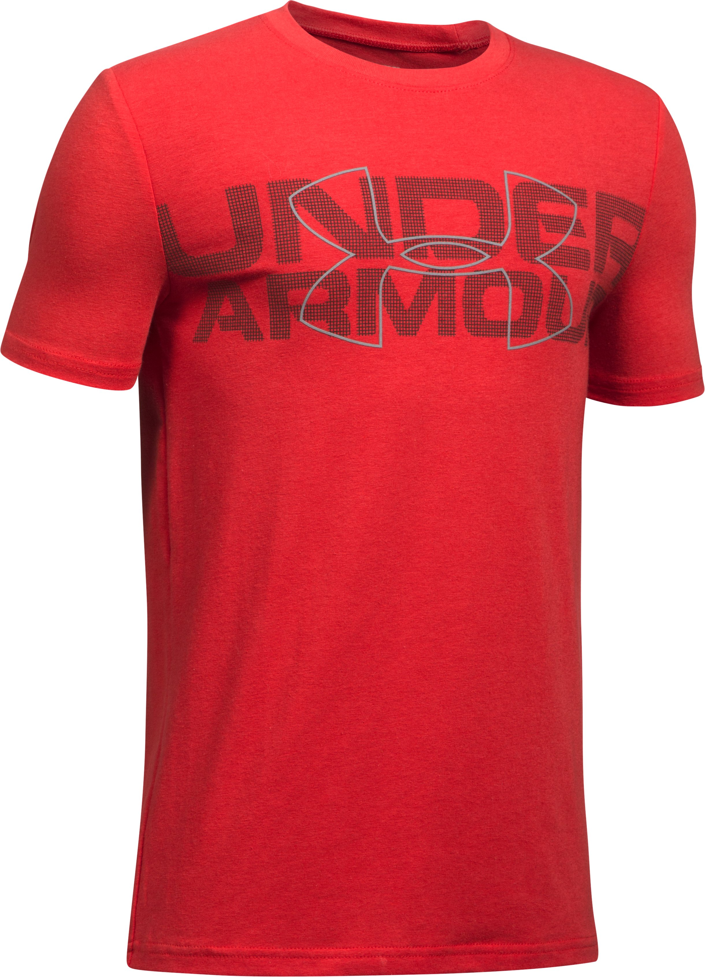 Boys' UA Duo Armour T-Shirt, Red, undefined
