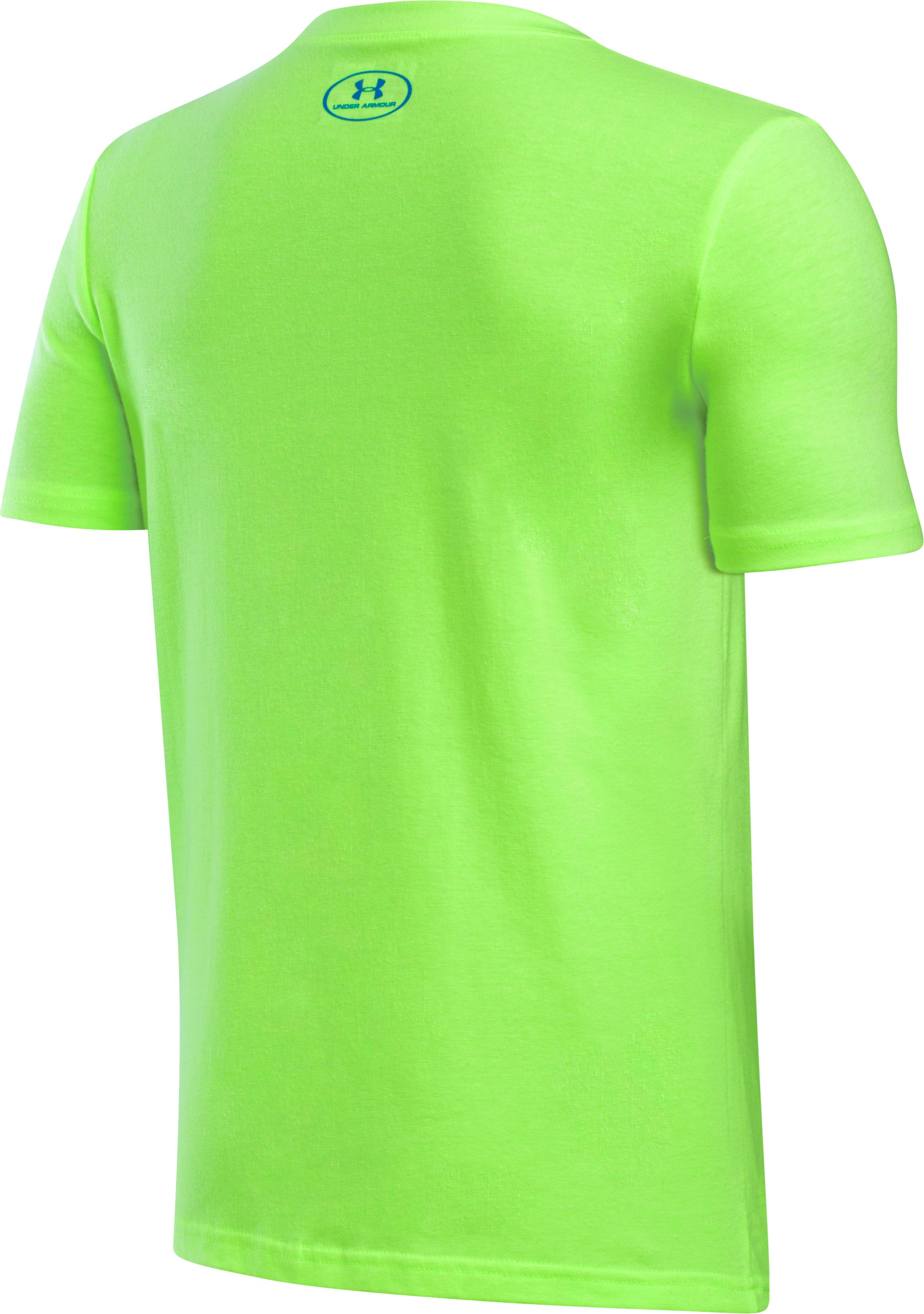 Boys' UA Duo Blocked T-Shirt, QUIRKY LIME LIGHT HEATHER, undefined