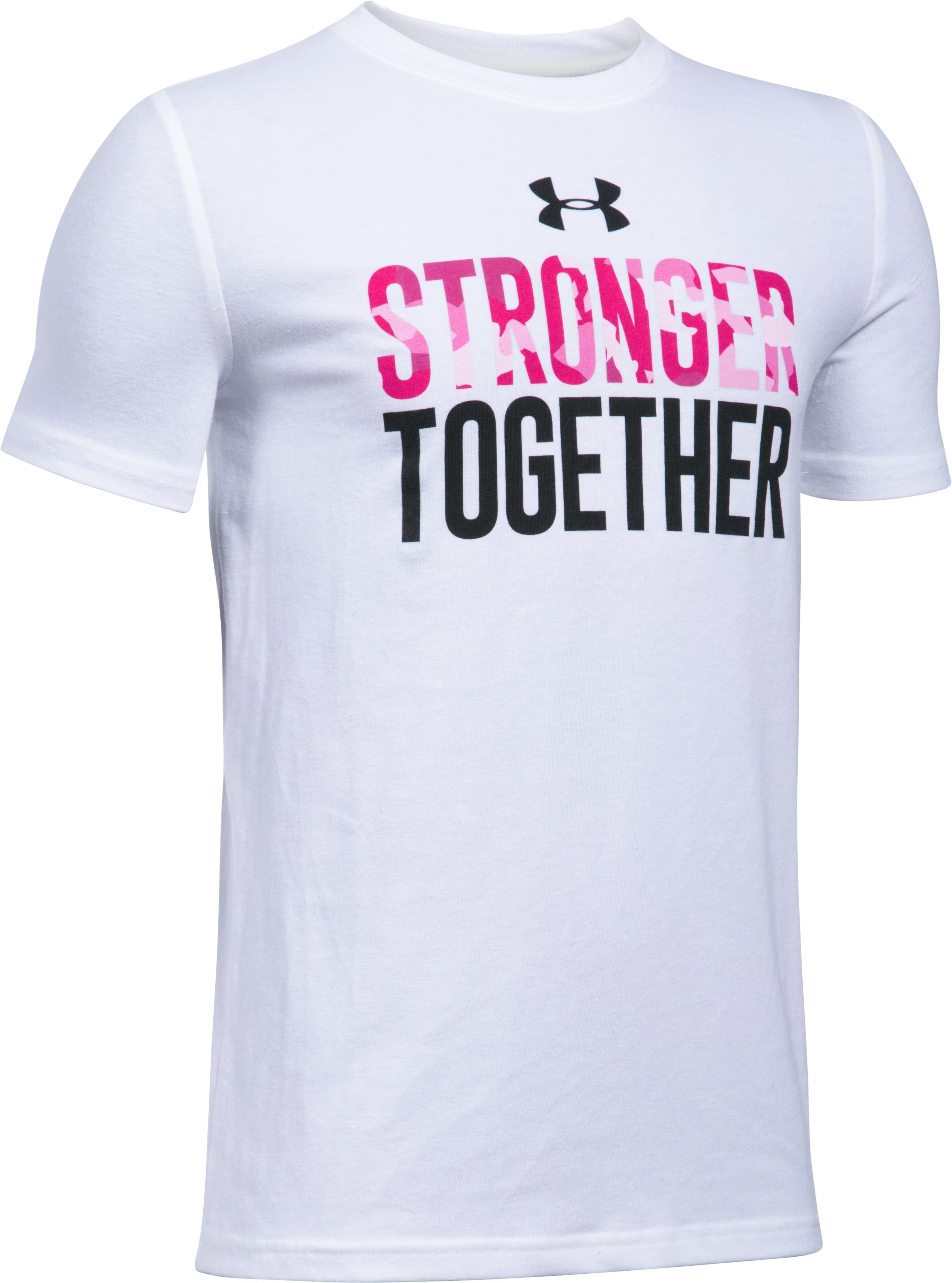 Boys' UA PIP Stronger Together T-Shirt, White, undefined