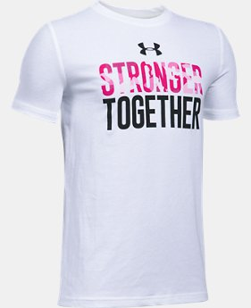 New Arrival Boys' UA PIP Stronger Together T-Shirt  1 Color $24.99
