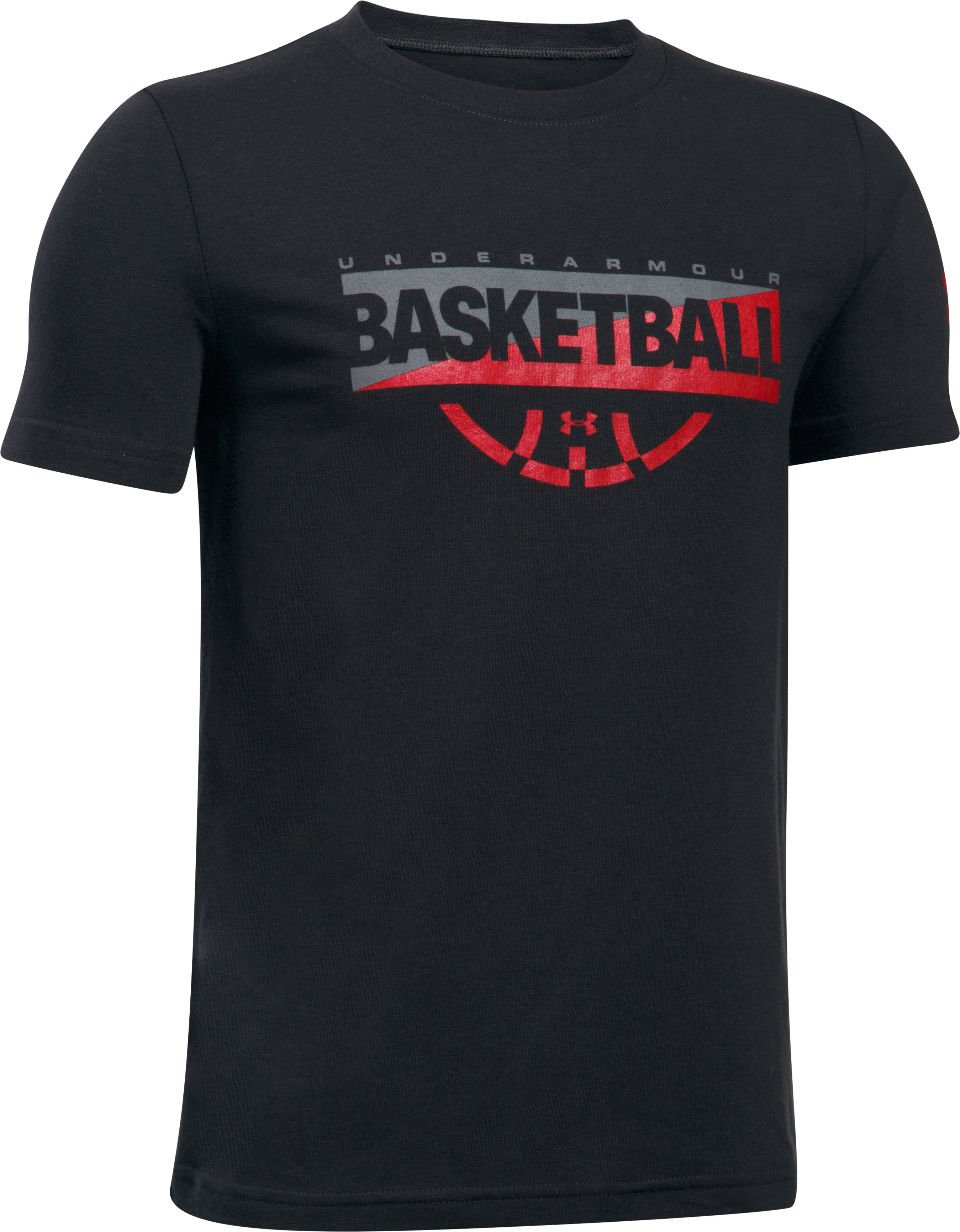 Boys' UA Baseline Graphic T-Shirt, Black