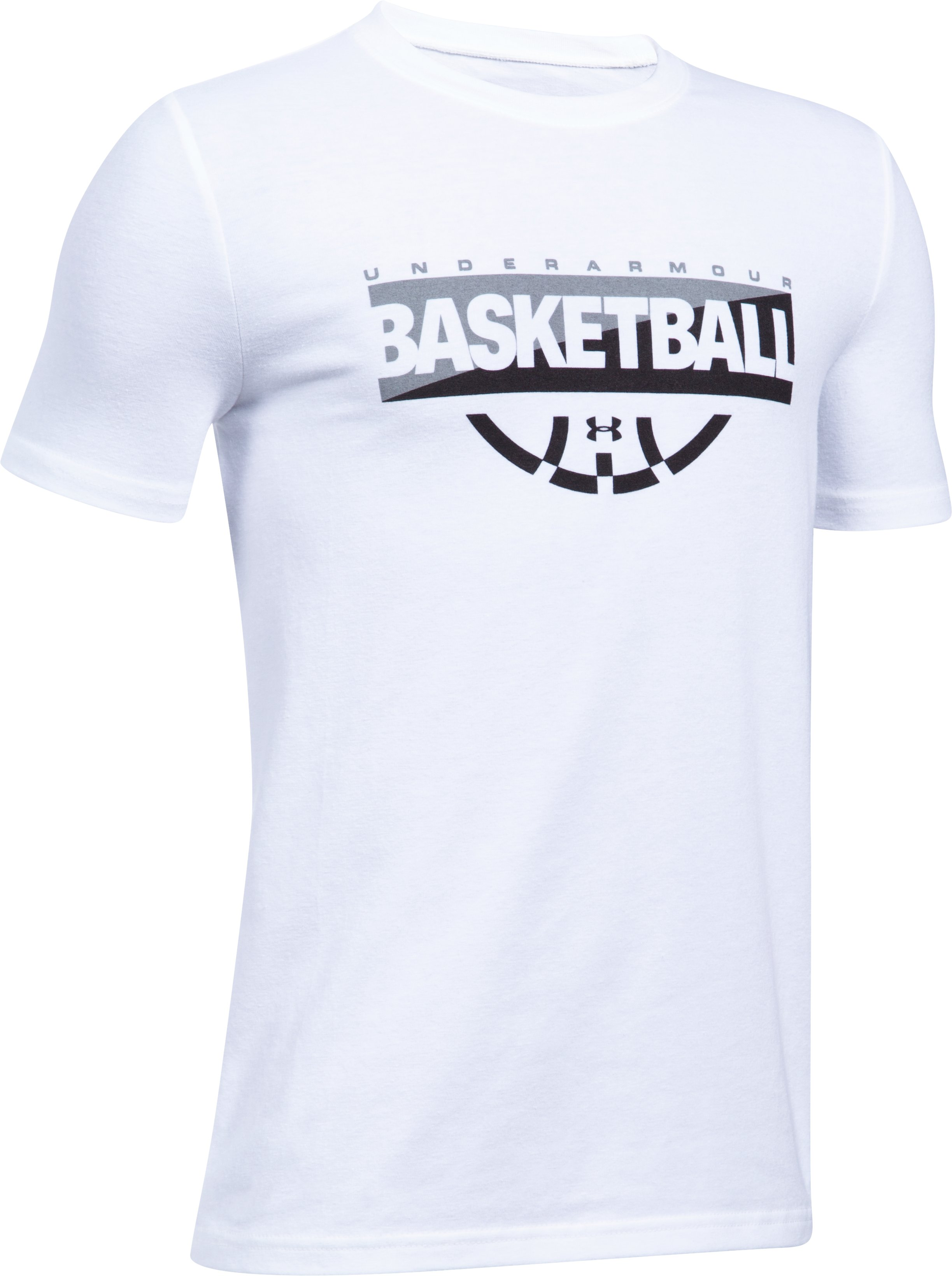 Boys' UA Baseline Graphic T-Shirt, White,