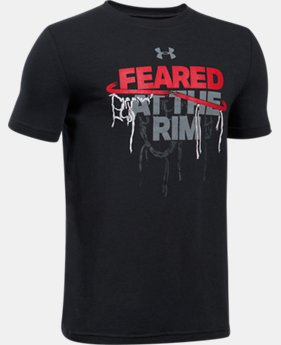Boys' UA Feared At The Rim T-Shirt  3 Colors $13.99